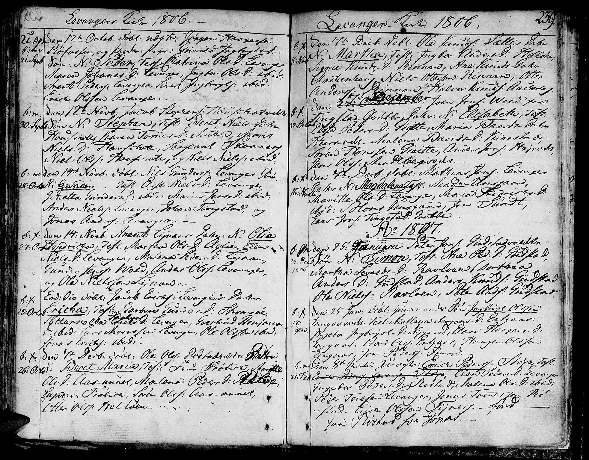 SAT, Ministerialprotokoller, klokkerbøker og fødselsregistre - Nord-Trøndelag, 717/L0144: Ministerialbok nr. 717A02 /3, 1805-1809, s. 239