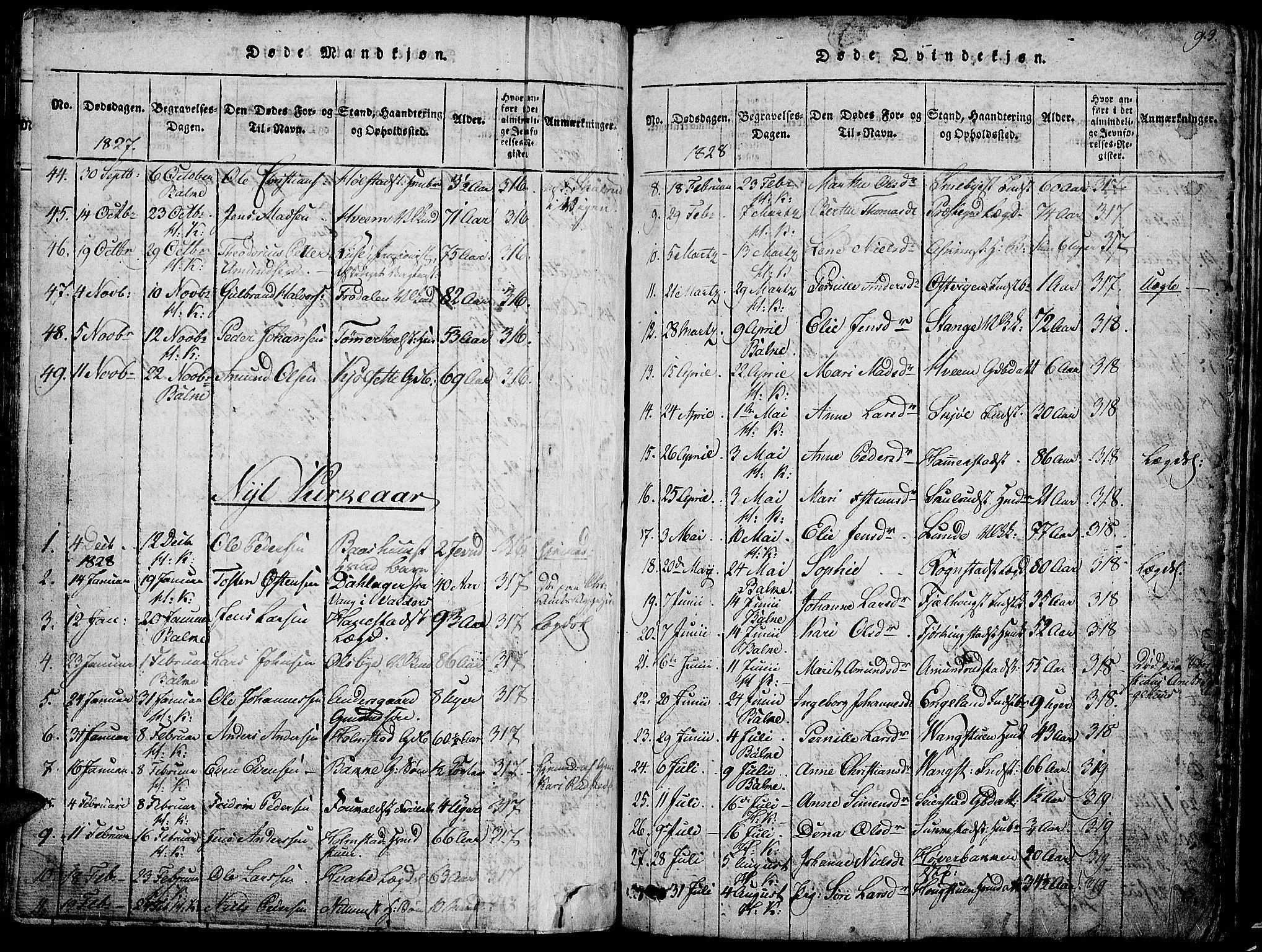 SAH, Østre Toten prestekontor, Klokkerbok nr. 1, 1827-1839, s. 93