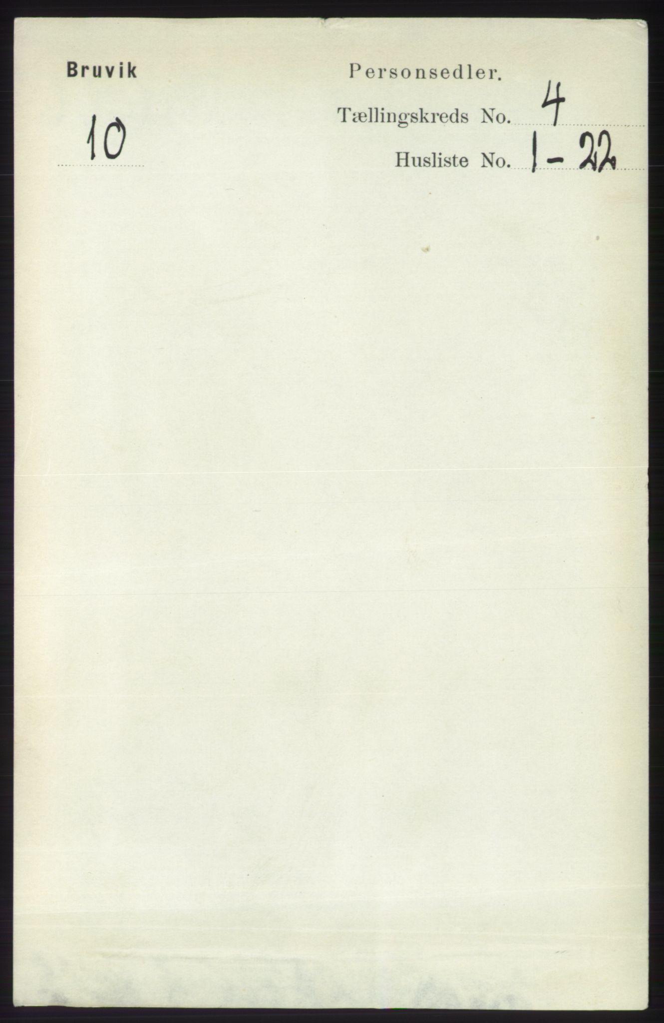 RA, Folketelling 1891 for 1251 Bruvik herred, 1891, s. 1001