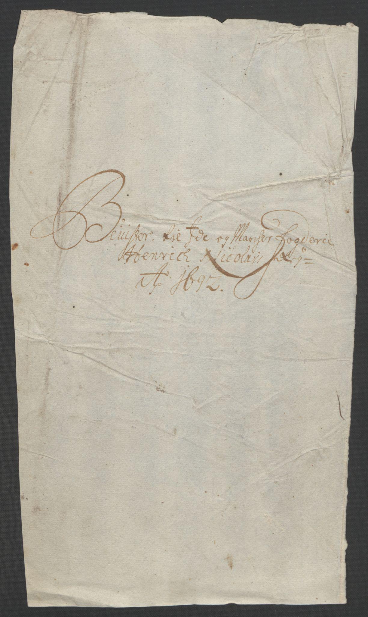 RA, Rentekammeret inntil 1814, Reviderte regnskaper, Fogderegnskap, R01/L0011: Fogderegnskap Idd og Marker, 1692-1693, s. 21