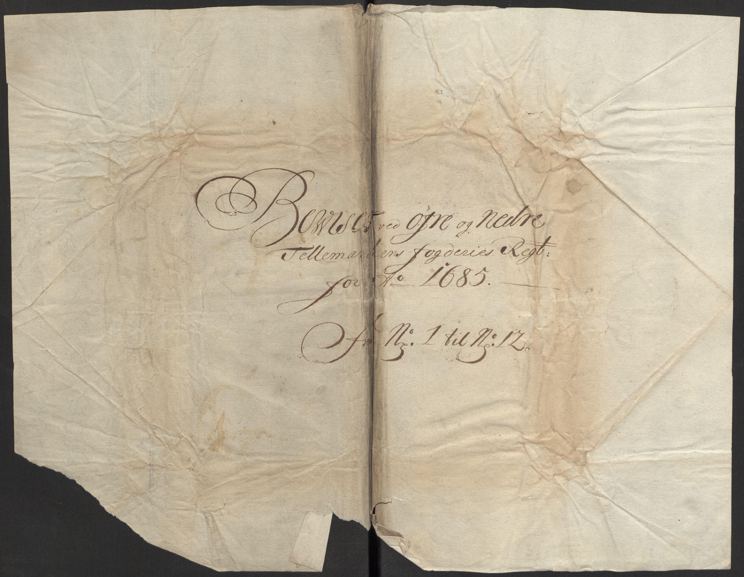 RA, Rentekammeret inntil 1814, Reviderte regnskaper, Fogderegnskap, R35/L2082: Fogderegnskap Øvre og Nedre Telemark, 1685, s. 389