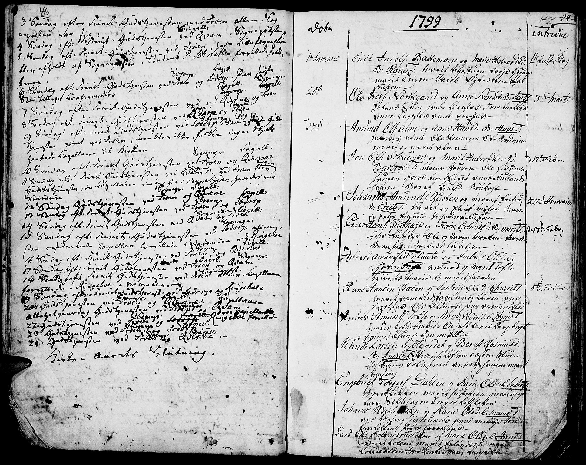 SAH, Fron prestekontor, H/Ha/Haa/L0001: Ministerialbok nr. 1, 1799-1816, s. 46-47