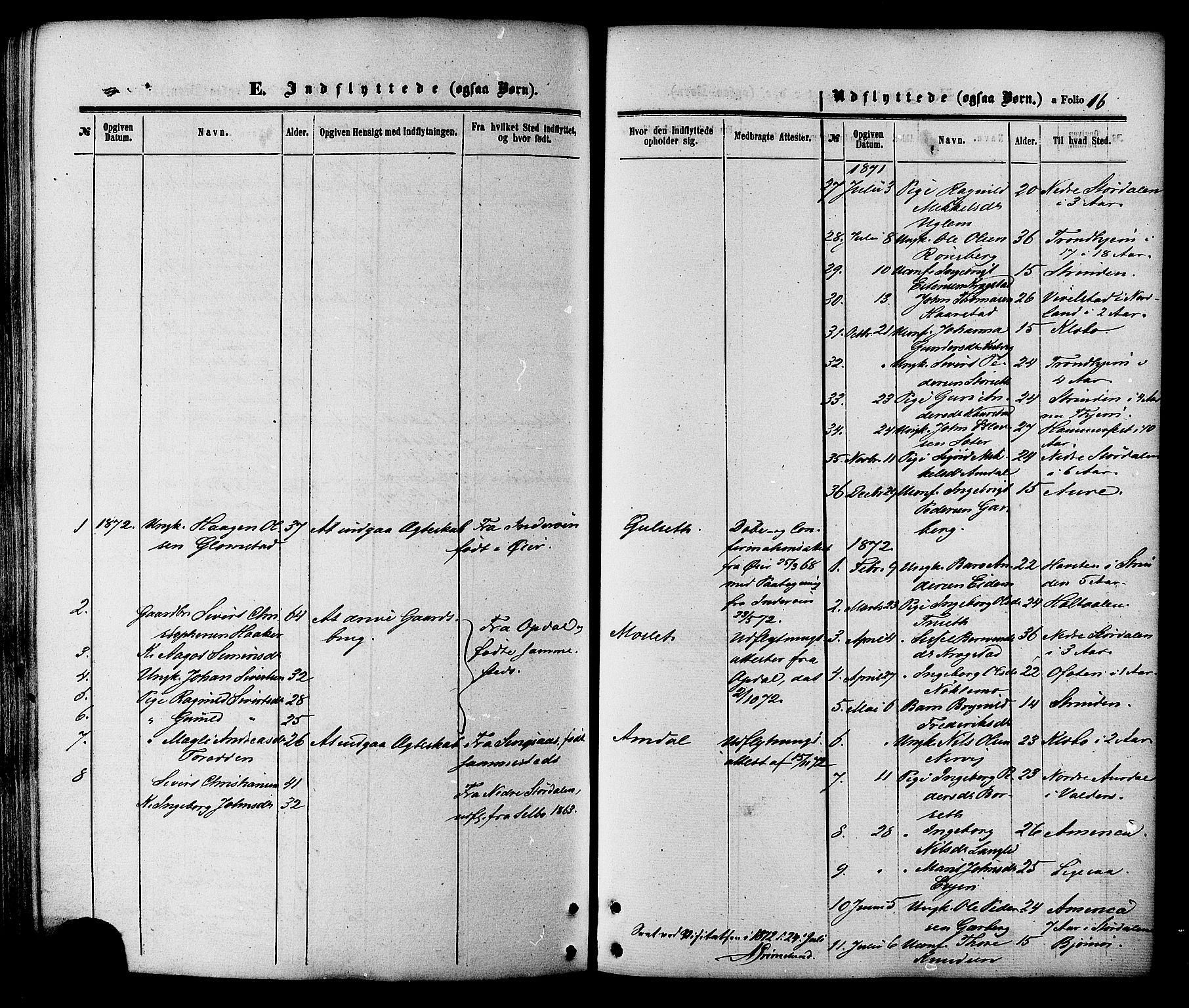 SAT, Ministerialprotokoller, klokkerbøker og fødselsregistre - Sør-Trøndelag, 695/L1147: Ministerialbok nr. 695A07, 1860-1877, s. 16