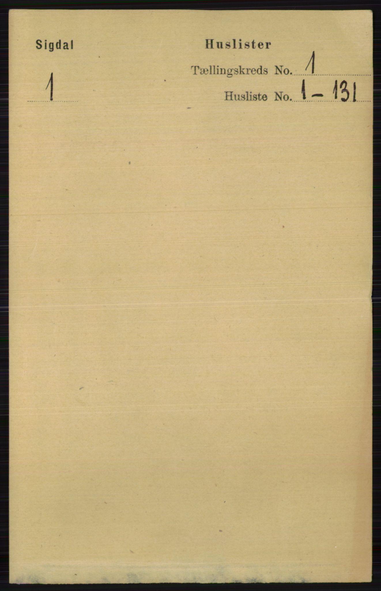 RA, Folketelling 1891 for 0621 Sigdal herred, 1891, s. 53