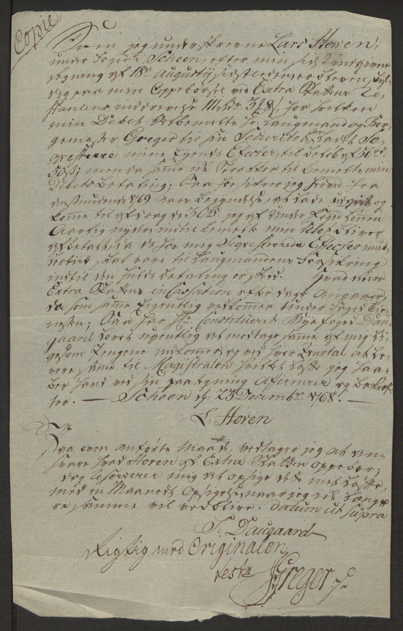 RA, Rentekammeret inntil 1814, Reviderte regnskaper, Byregnskaper, R/Rj/L0198: [J4] Kontribusjonsregnskap, 1762-1768, s. 526