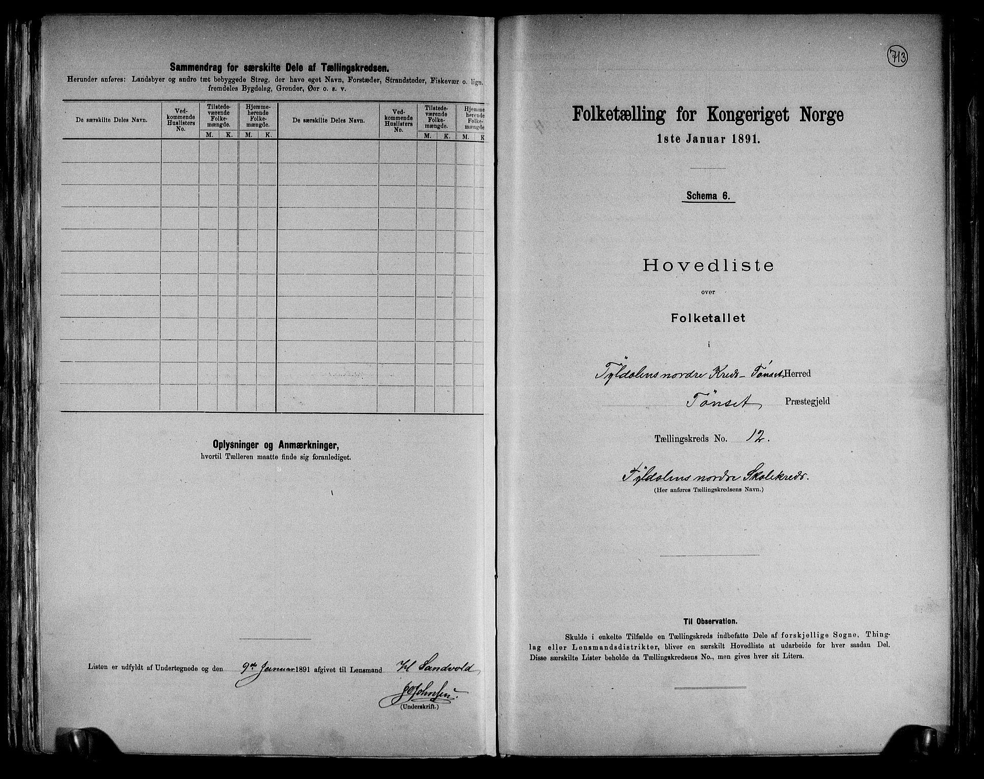RA, Folketelling 1891 for 0437 Tynset herred, 1891, s. 26