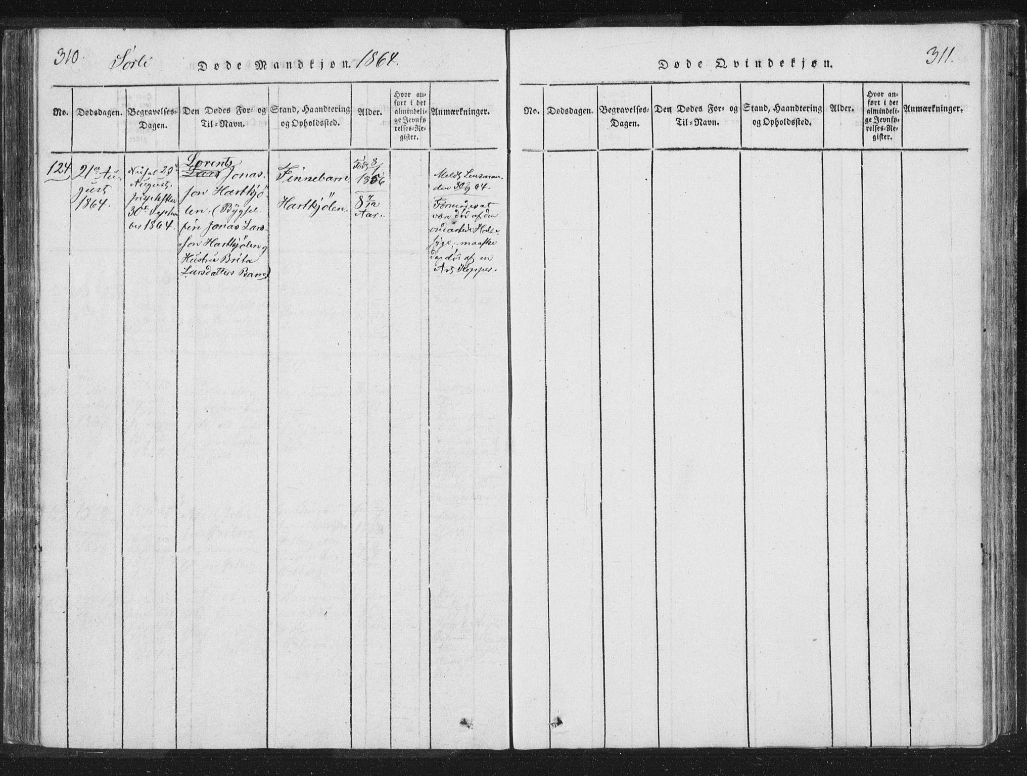 SAT, Ministerialprotokoller, klokkerbøker og fødselsregistre - Nord-Trøndelag, 755/L0491: Ministerialbok nr. 755A01 /2, 1817-1864, s. 310-311