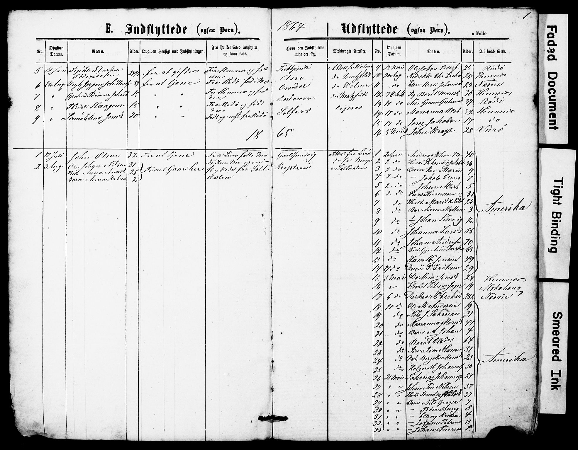 SAT, Ministerialprotokoller, klokkerbøker og fødselsregistre - Nordland, 827/L0419: Klokkerbok nr. 827C08, 1864-1885, s. 1