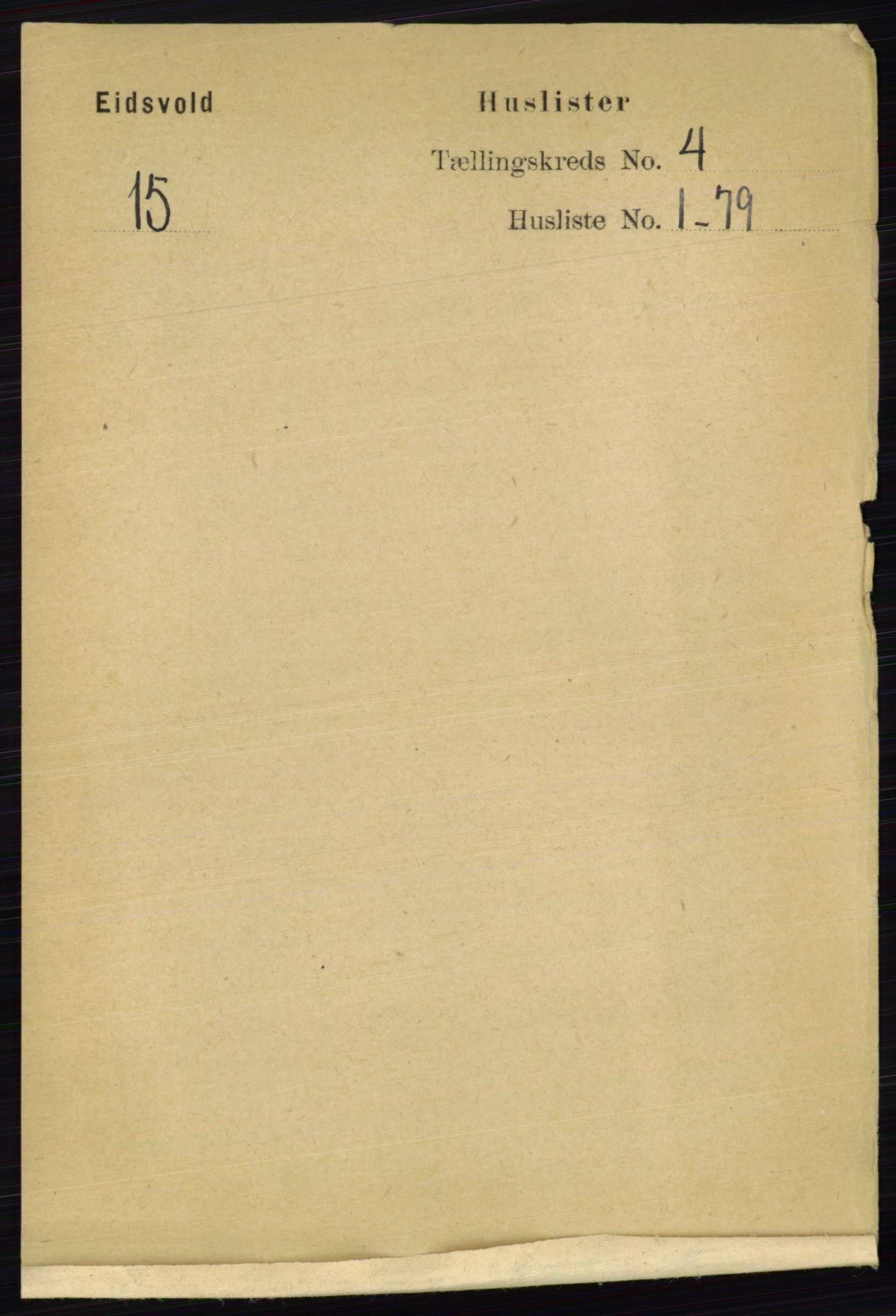 RA, Folketelling 1891 for 0237 Eidsvoll herred, 1891, s. 2036