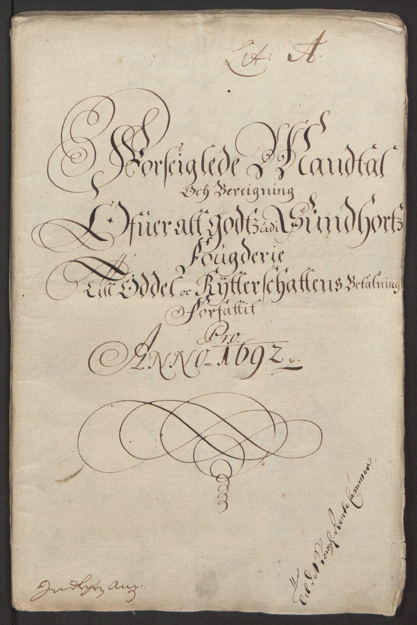 RA, Rentekammeret inntil 1814, Reviderte regnskaper, Fogderegnskap, R48/L2973: Fogderegnskap Sunnhordland og Hardanger, 1691-1692, s. 328