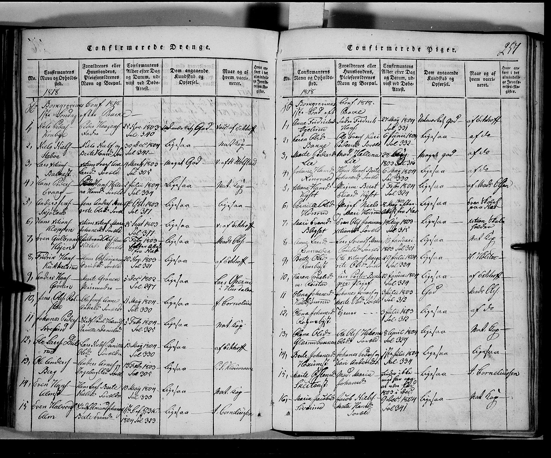 SAH, Toten prestekontor, Klokkerbok nr. 1, 1814-1820, s. 257
