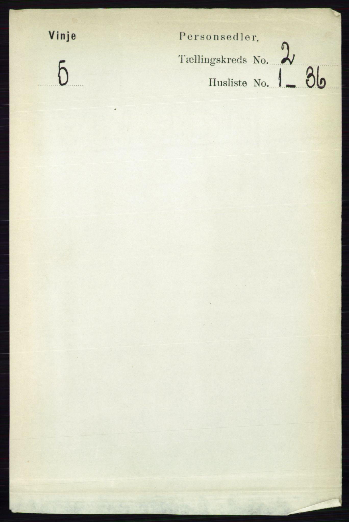 RA, Folketelling 1891 for 0834 Vinje herred, 1891, s. 355