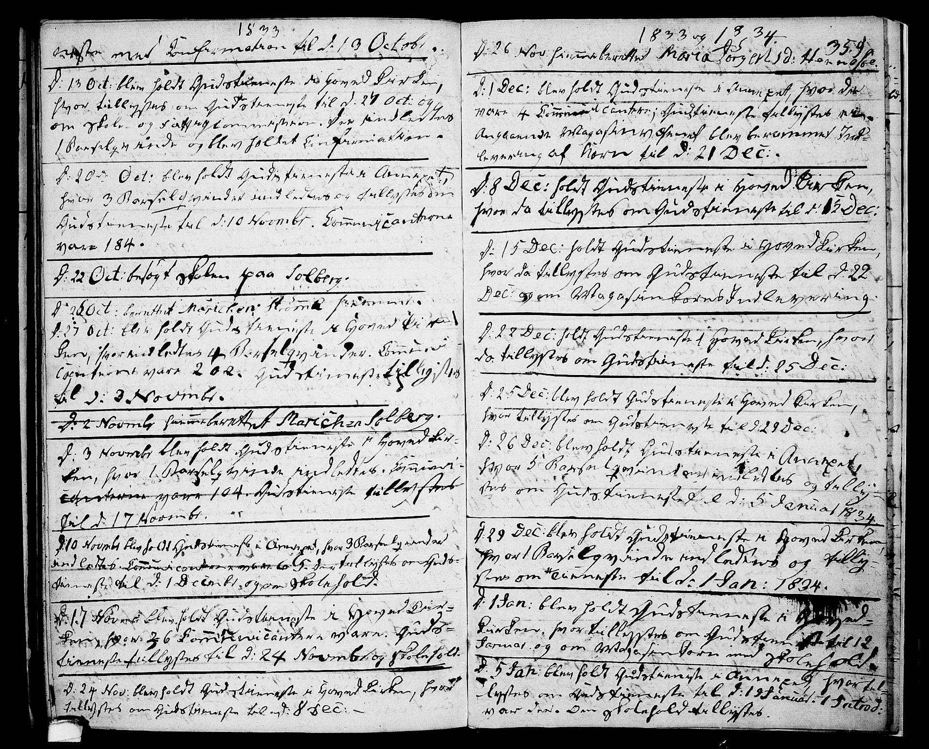 SAKO, Drangedal kirkebøker, F/Fa/L0006: Ministerialbok nr. 6, 1831-1837, s. 359