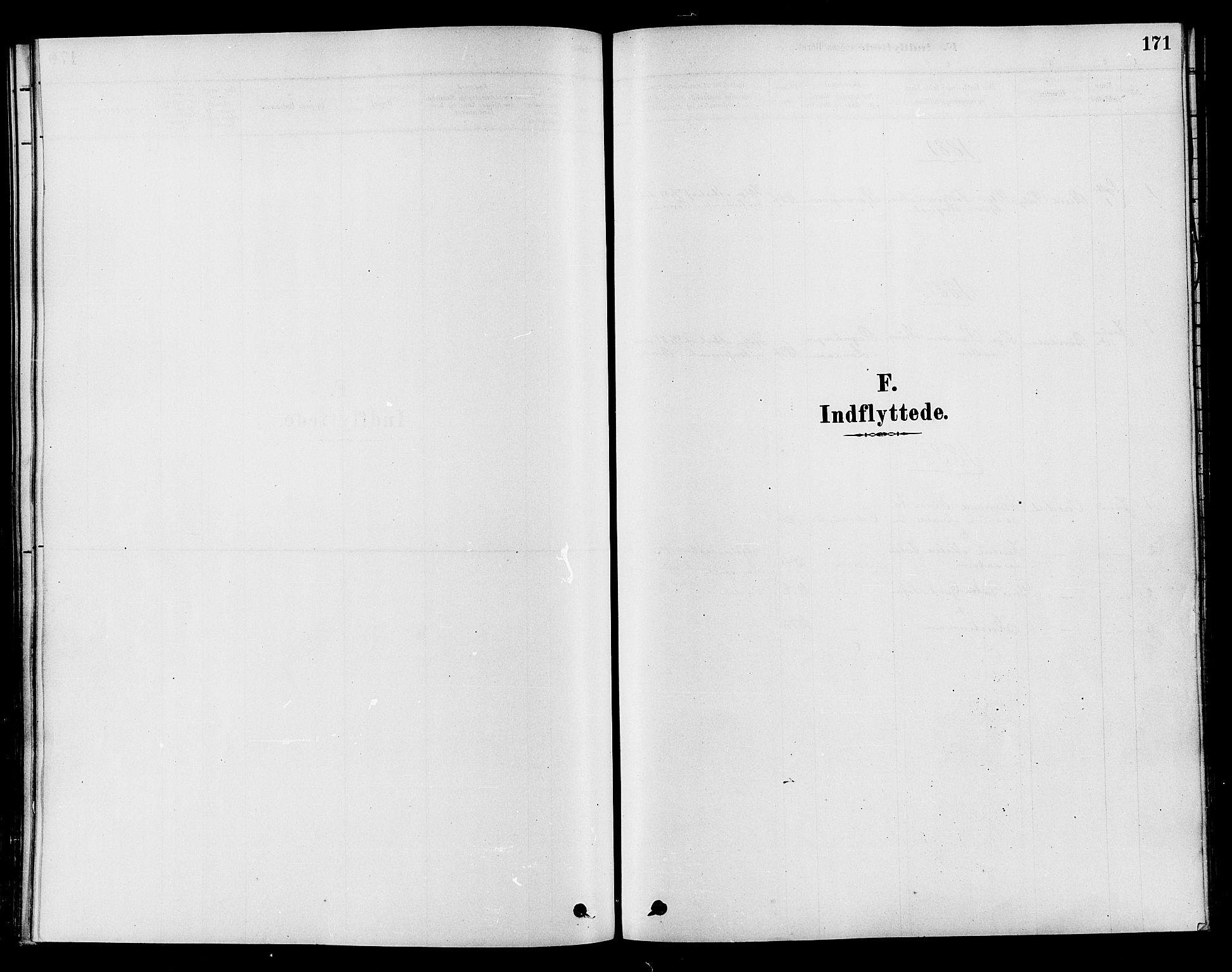 SAH, Søndre Land prestekontor, K/L0002: Ministerialbok nr. 2, 1878-1894, s. 171