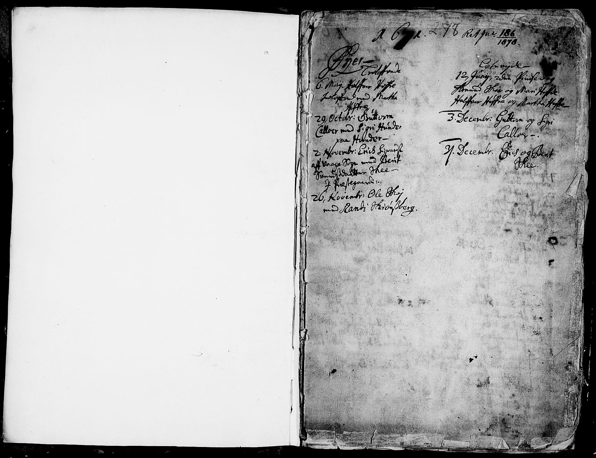 SAH, Øyer prestekontor, Ministerialbok nr. 1, 1671-1727, s. 0-1