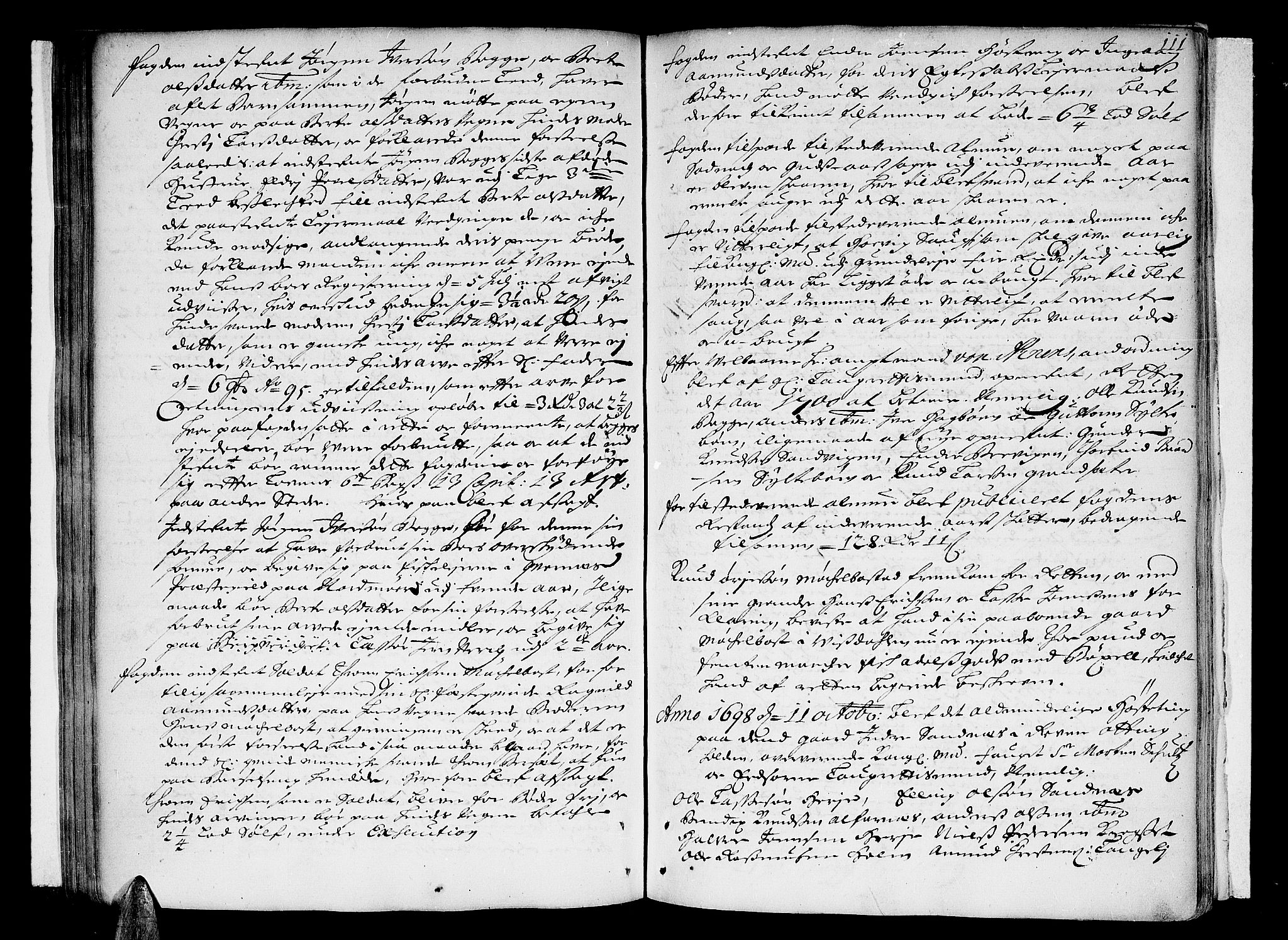 SAT, Romsdal sorenskriveri, 1/1A/L0003: Tingbok, 1694-1699, s. 110b-111a