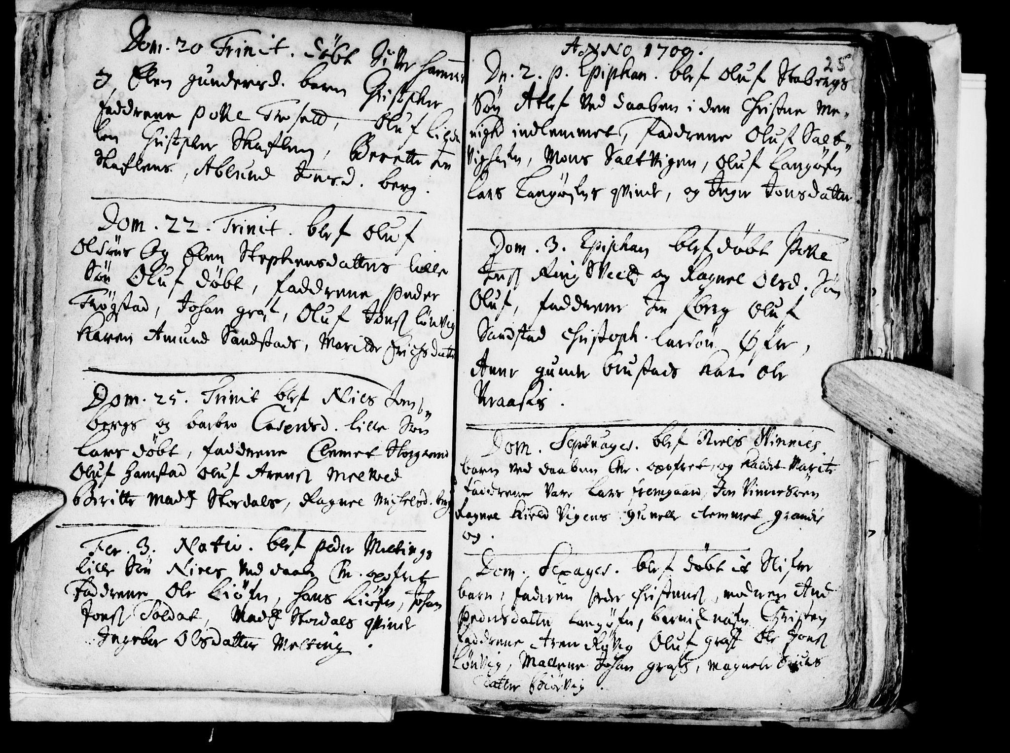 SAT, Ministerialprotokoller, klokkerbøker og fødselsregistre - Nord-Trøndelag, 722/L0214: Ministerialbok nr. 722A01, 1692-1718, s. 25