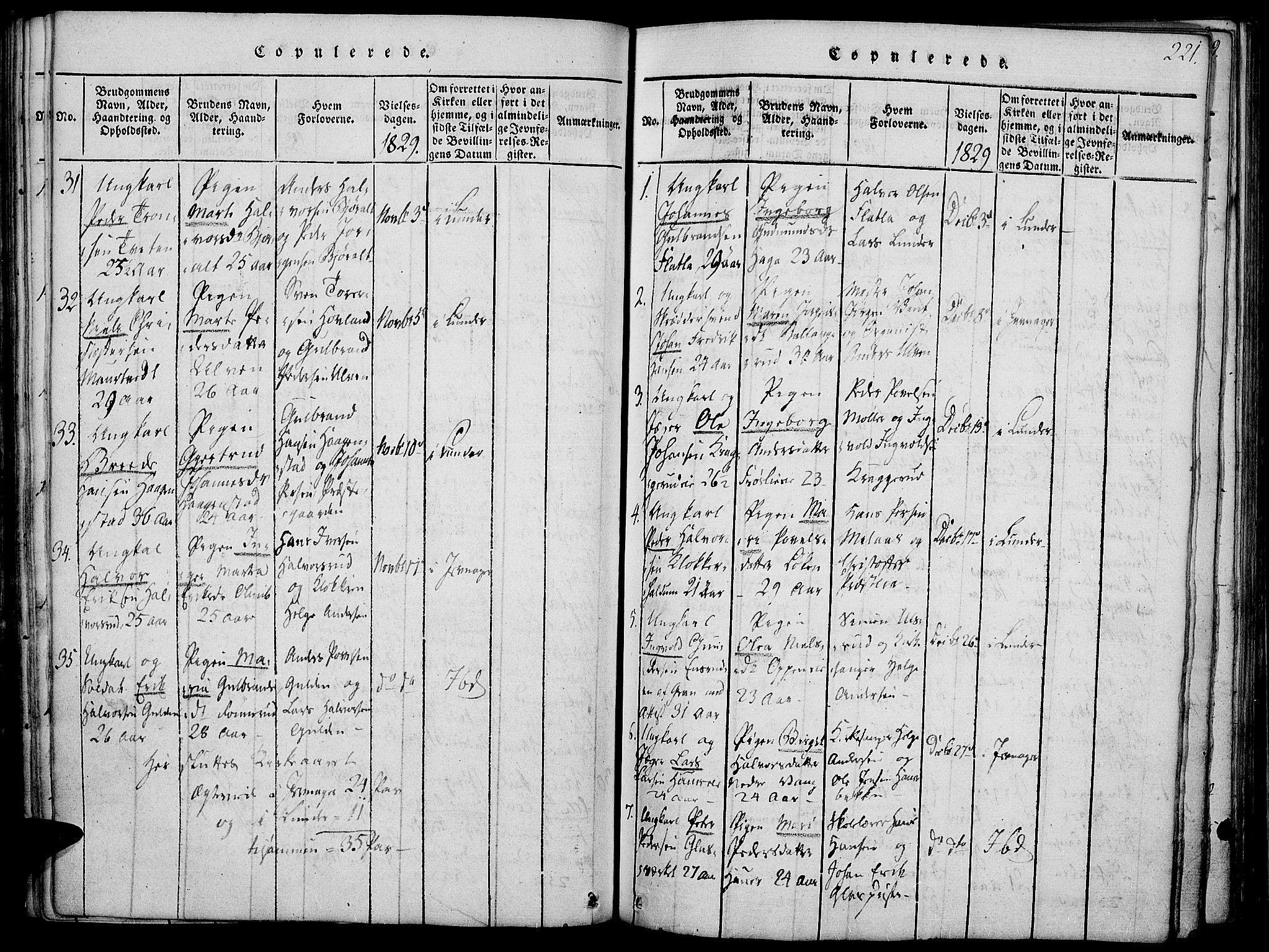 SAH, Jevnaker prestekontor, Ministerialbok nr. 5, 1815-1837, s. 221
