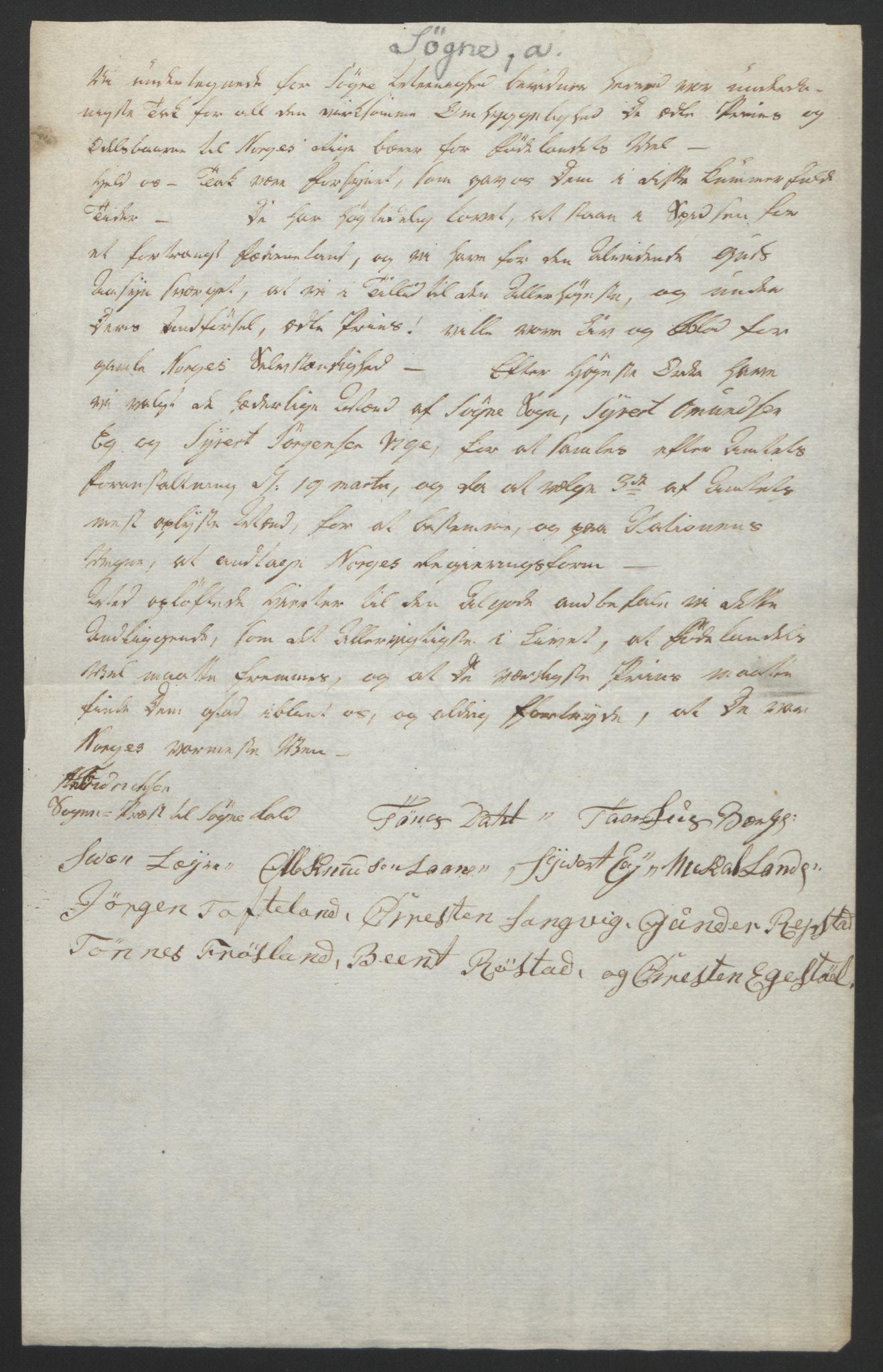RA, Statsrådssekretariatet, D/Db/L0008: Fullmakter for Eidsvollsrepresentantene i 1814. , 1814, s. 133