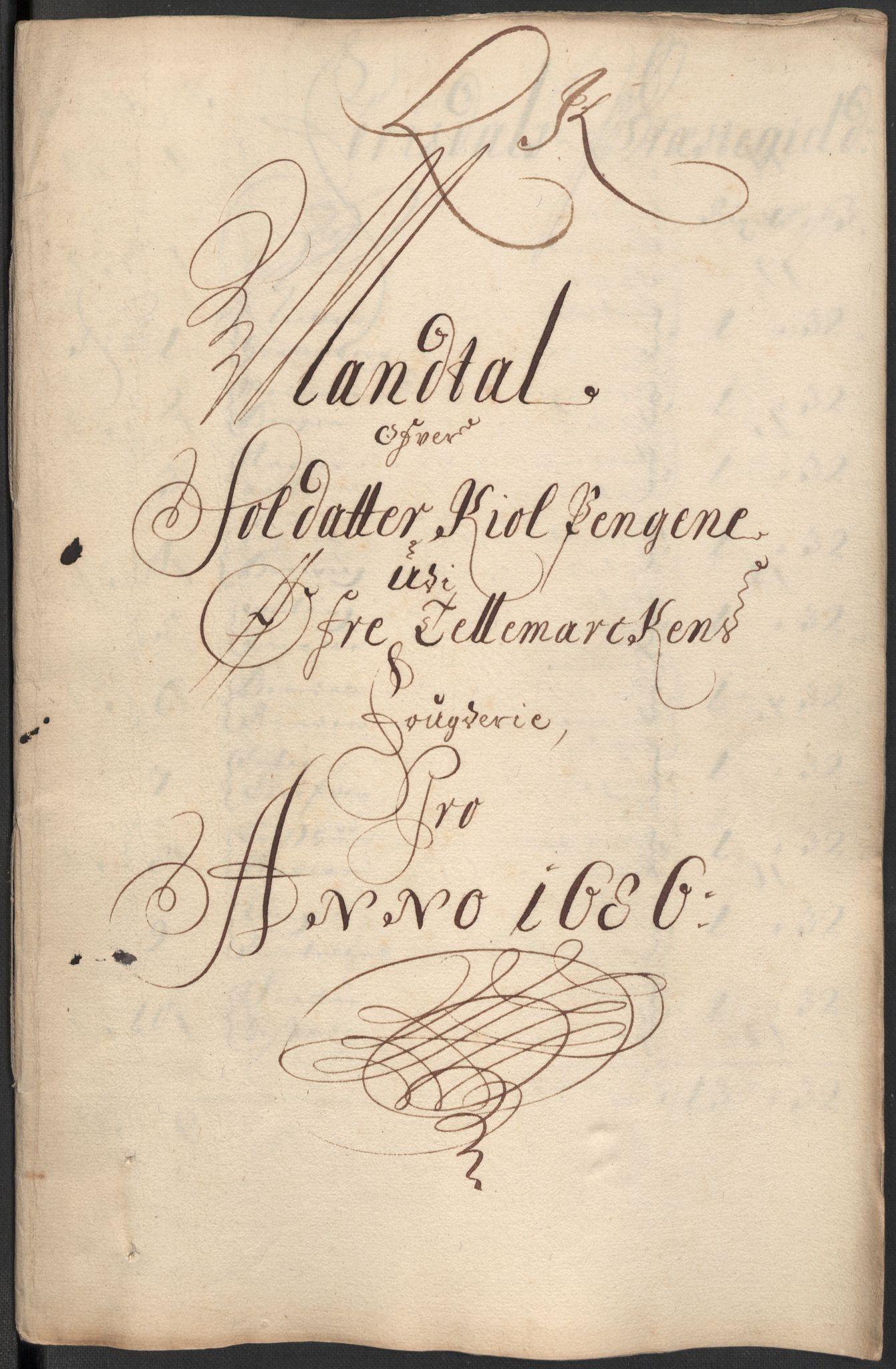 RA, Rentekammeret inntil 1814, Reviderte regnskaper, Fogderegnskap, R35/L2083: Fogderegnskap Øvre og Nedre Telemark, 1686, s. 279