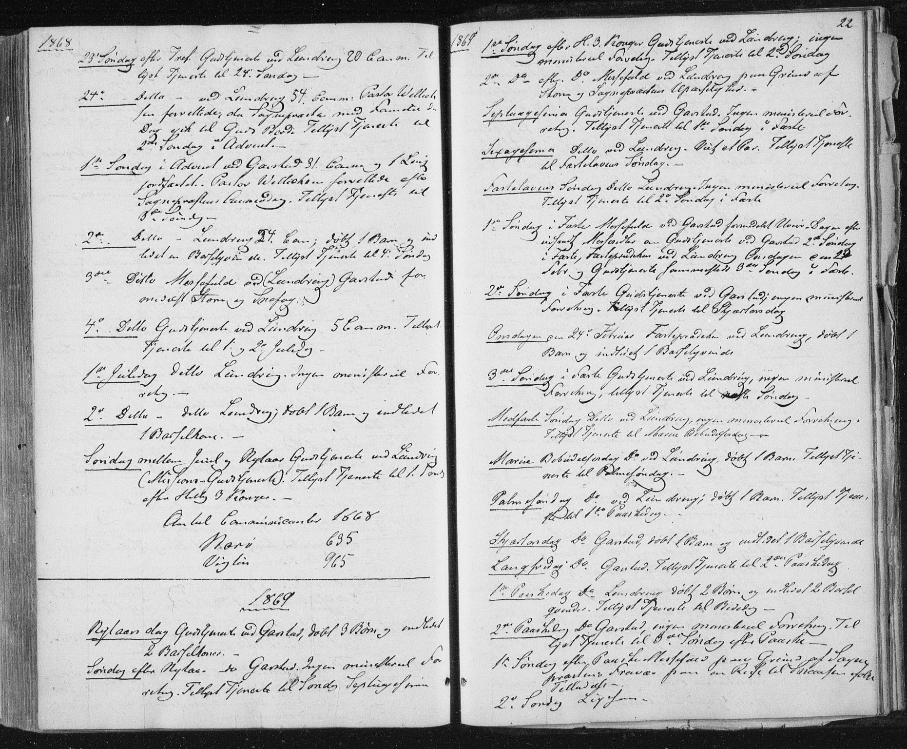 SAT, Ministerialprotokoller, klokkerbøker og fødselsregistre - Nord-Trøndelag, 784/L0670: Ministerialbok nr. 784A05, 1860-1876, s. 22