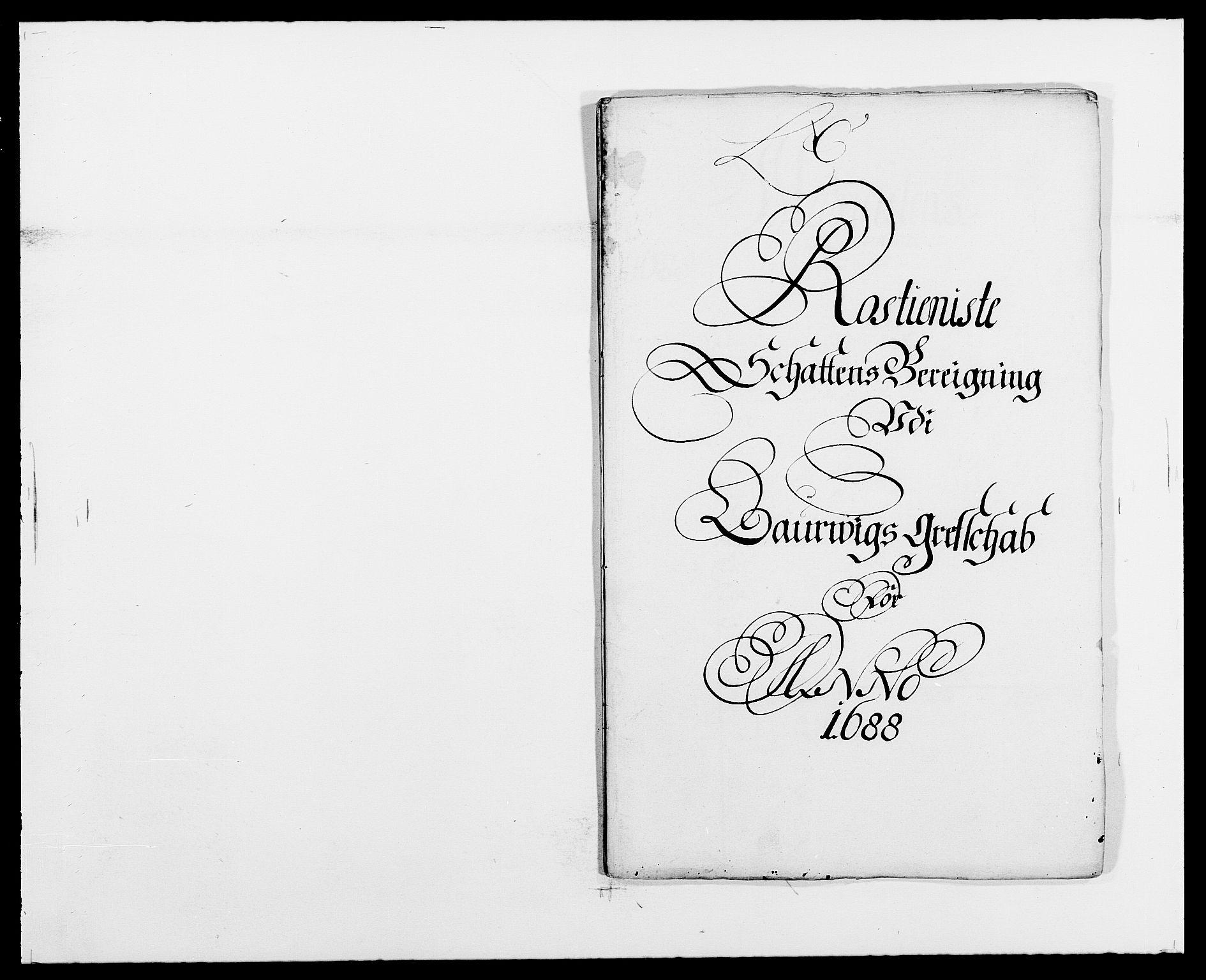 RA, Rentekammeret inntil 1814, Reviderte regnskaper, Fogderegnskap, R33/L1971: Fogderegnskap Larvik grevskap, 1688-1689, s. 71