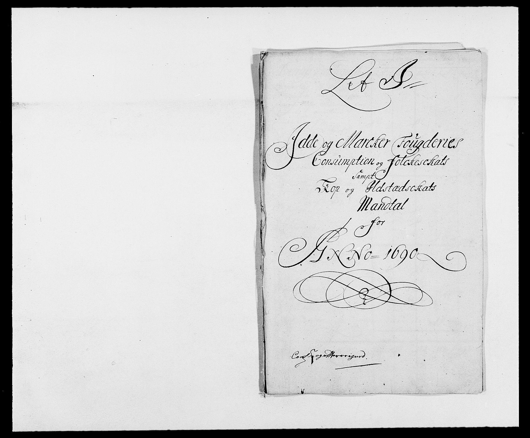 RA, Rentekammeret inntil 1814, Reviderte regnskaper, Fogderegnskap, R01/L0010: Fogderegnskap Idd og Marker, 1690-1691, s. 262