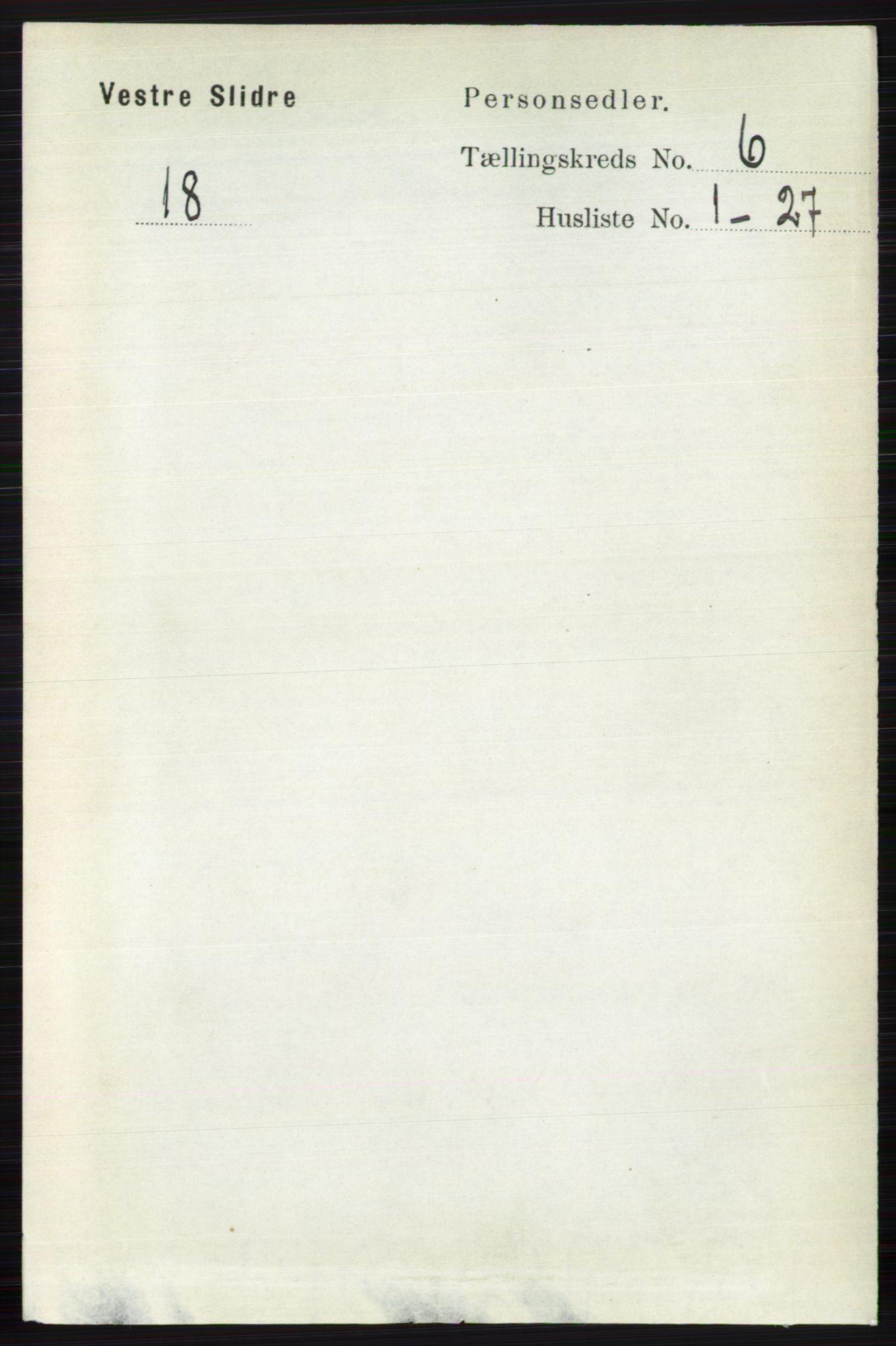 RA, Folketelling 1891 for 0543 Vestre Slidre herred, 1891, s. 2062