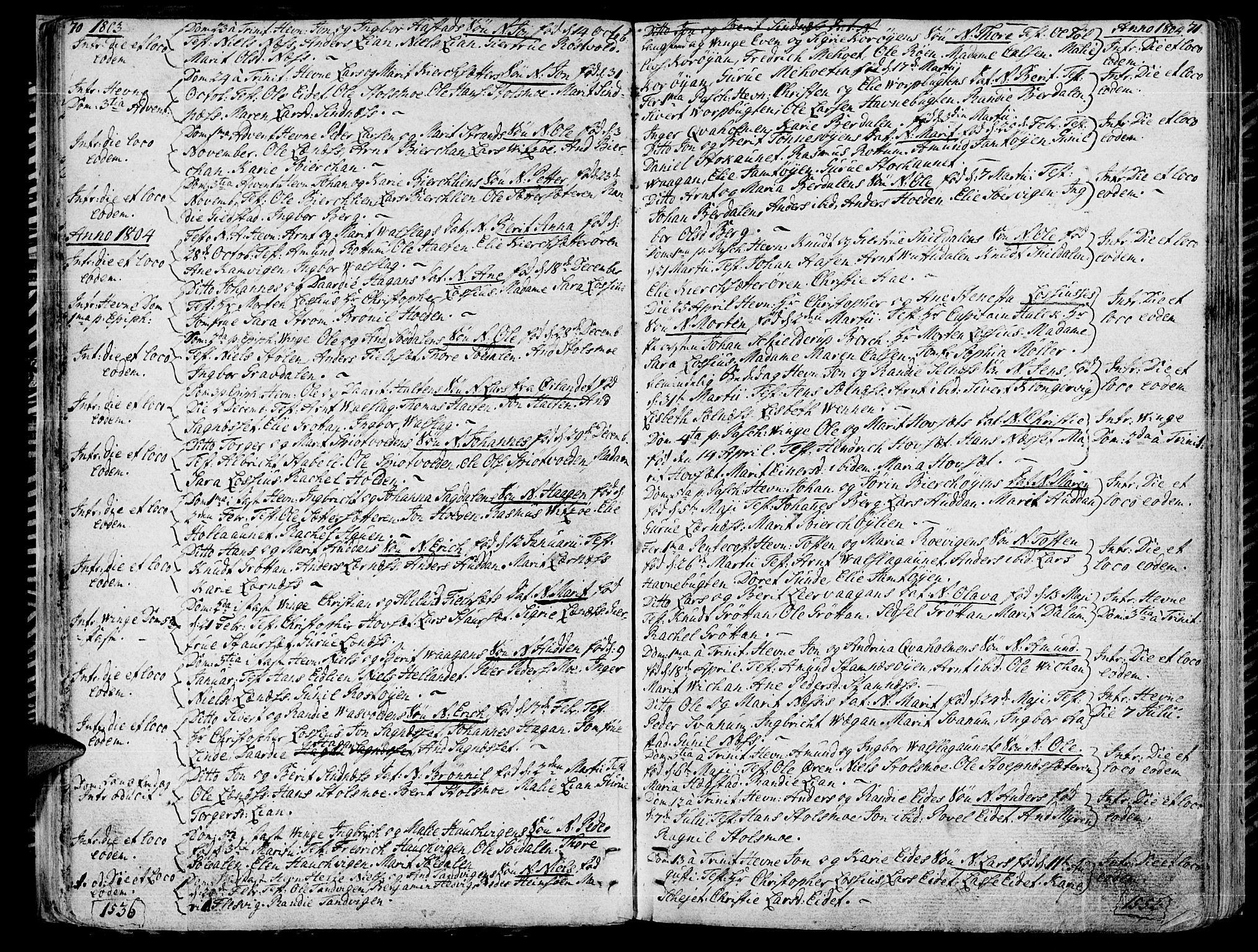 SAT, Ministerialprotokoller, klokkerbøker og fødselsregistre - Sør-Trøndelag, 630/L0490: Ministerialbok nr. 630A03, 1795-1818, s. 70-71