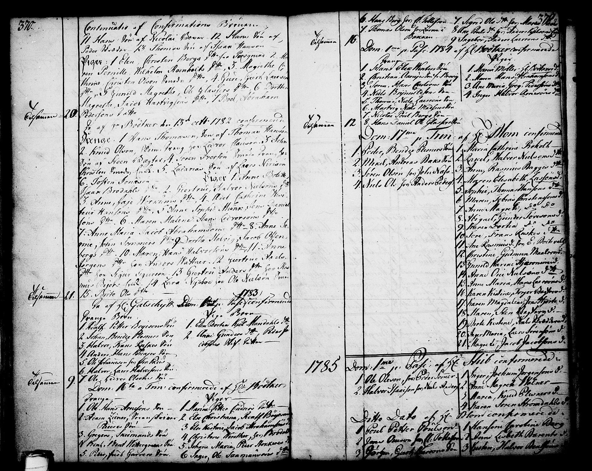 SAKO, Skien kirkebøker, F/Fa/L0003: Ministerialbok nr. 3, 1755-1791, s. 370-371