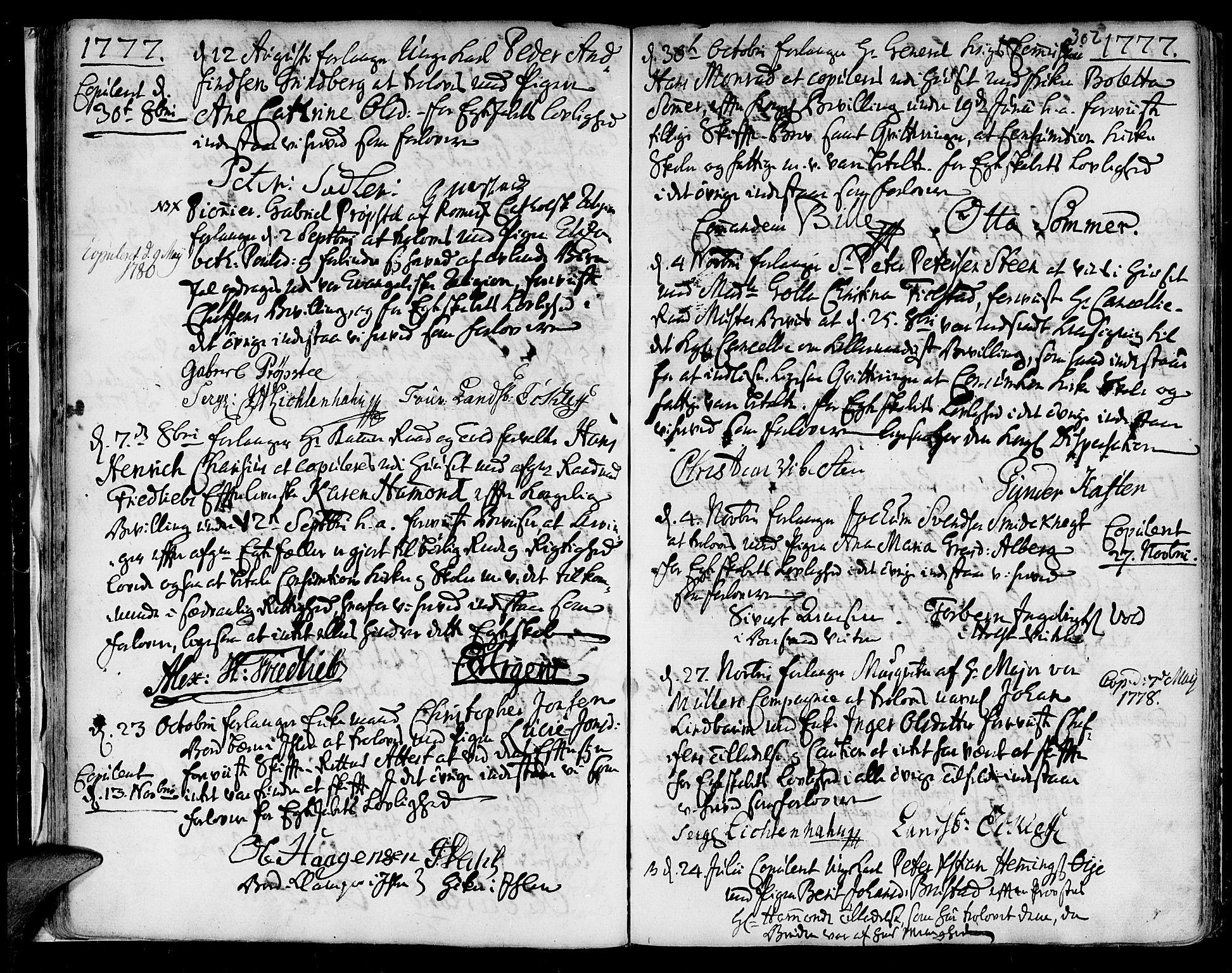 SAT, Ministerialprotokoller, klokkerbøker og fødselsregistre - Sør-Trøndelag, 601/L0038: Ministerialbok nr. 601A06, 1766-1877, s. 302