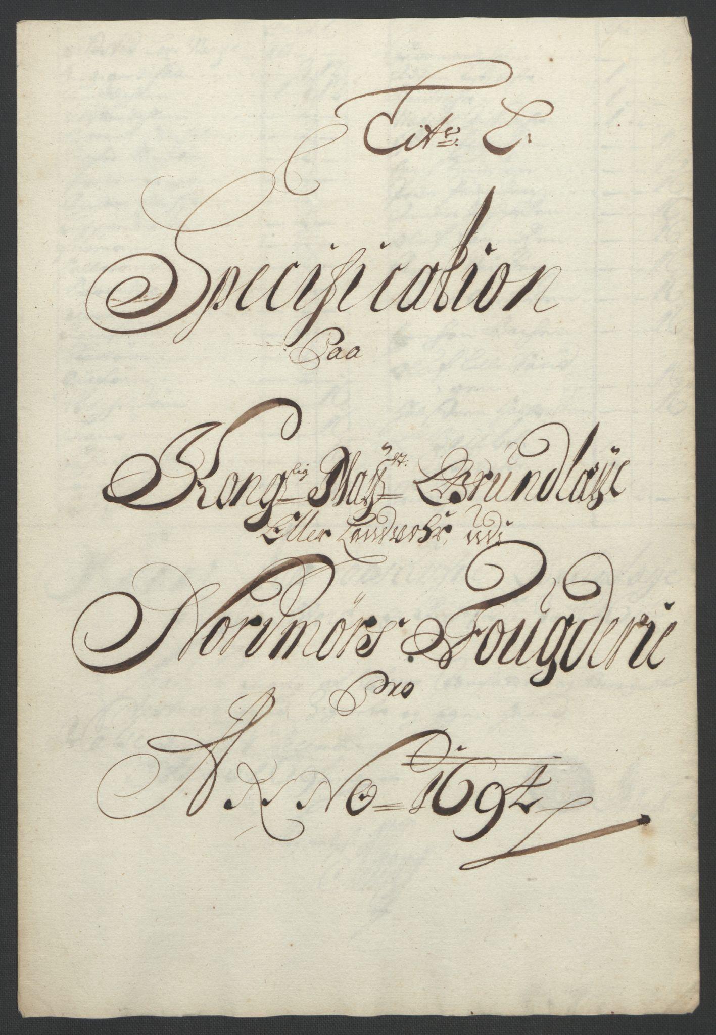 RA, Rentekammeret inntil 1814, Reviderte regnskaper, Fogderegnskap, R56/L3736: Fogderegnskap Nordmøre, 1694-1696, s. 104
