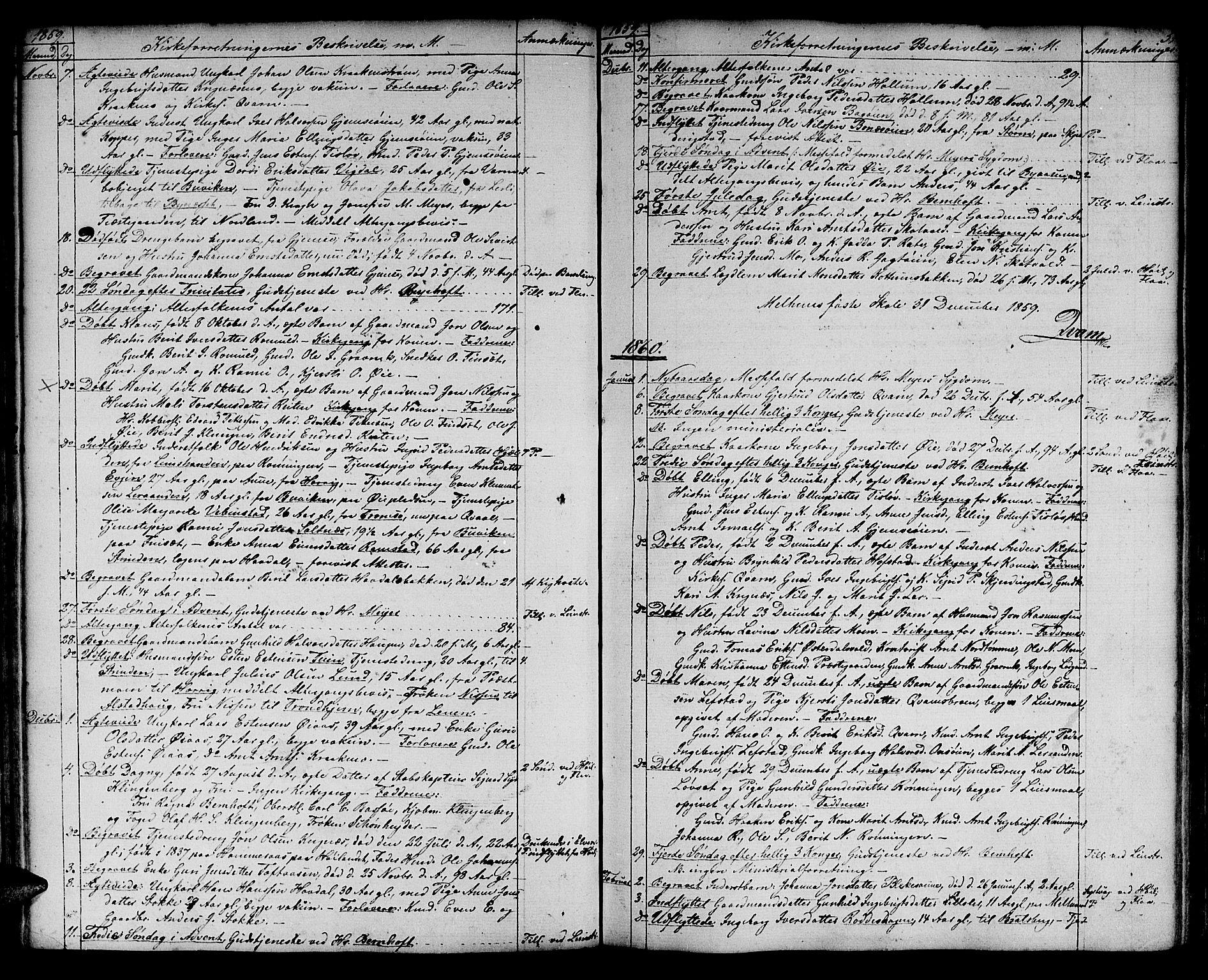 SAT, Ministerialprotokoller, klokkerbøker og fødselsregistre - Sør-Trøndelag, 691/L1093: Klokkerbok nr. 691C04, 1852-1879, s. 51