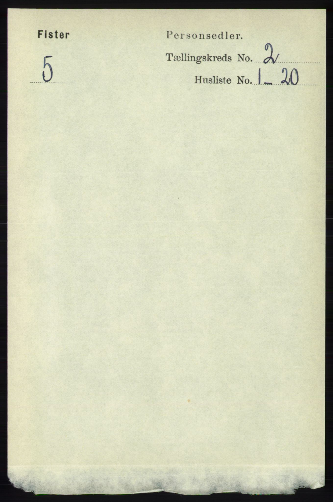 RA, Folketelling 1891 for 1132 Fister herred, 1891, s. 354
