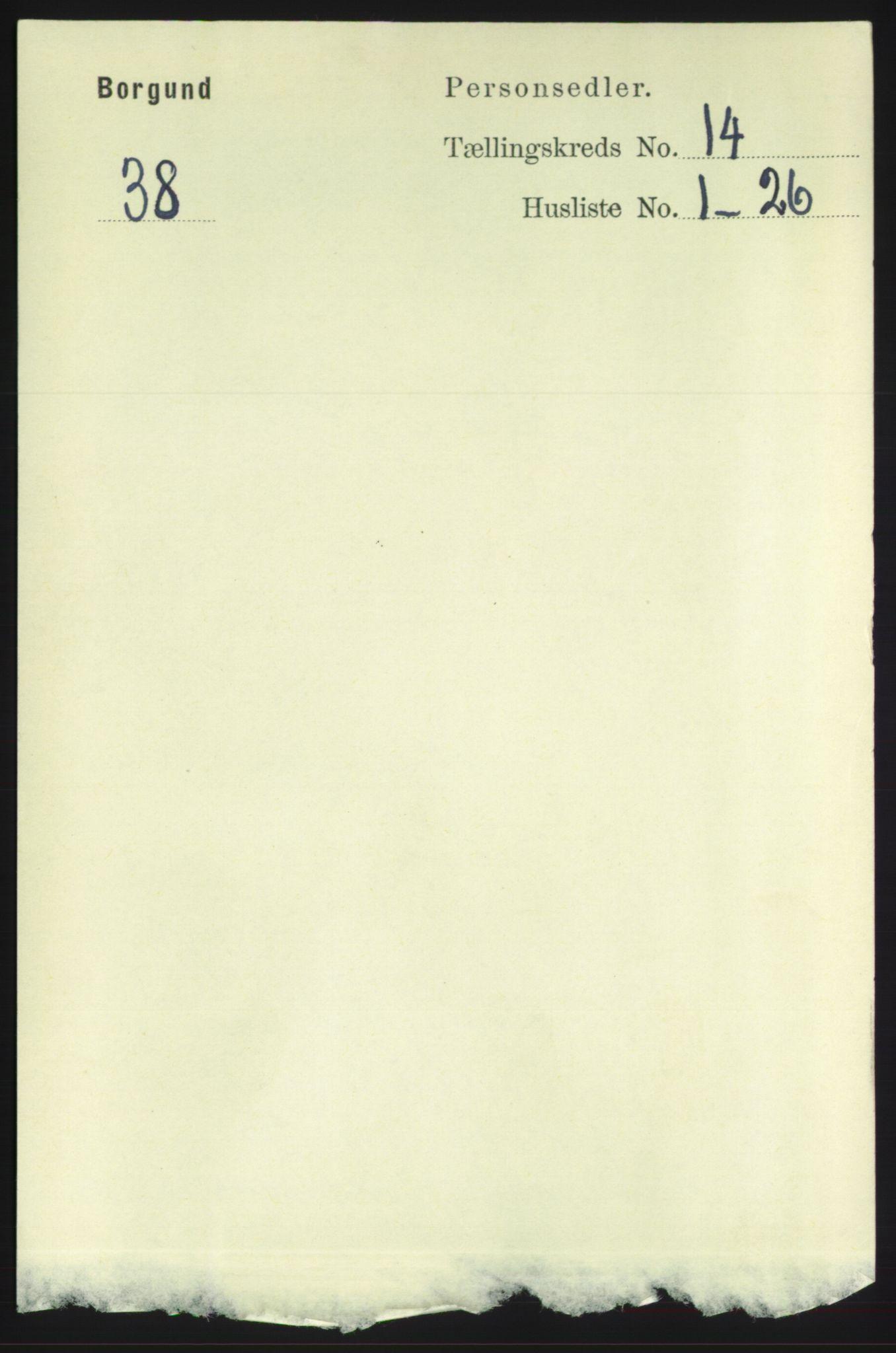 RA, Folketelling 1891 for 1531 Borgund herred, 1891, s. 4077