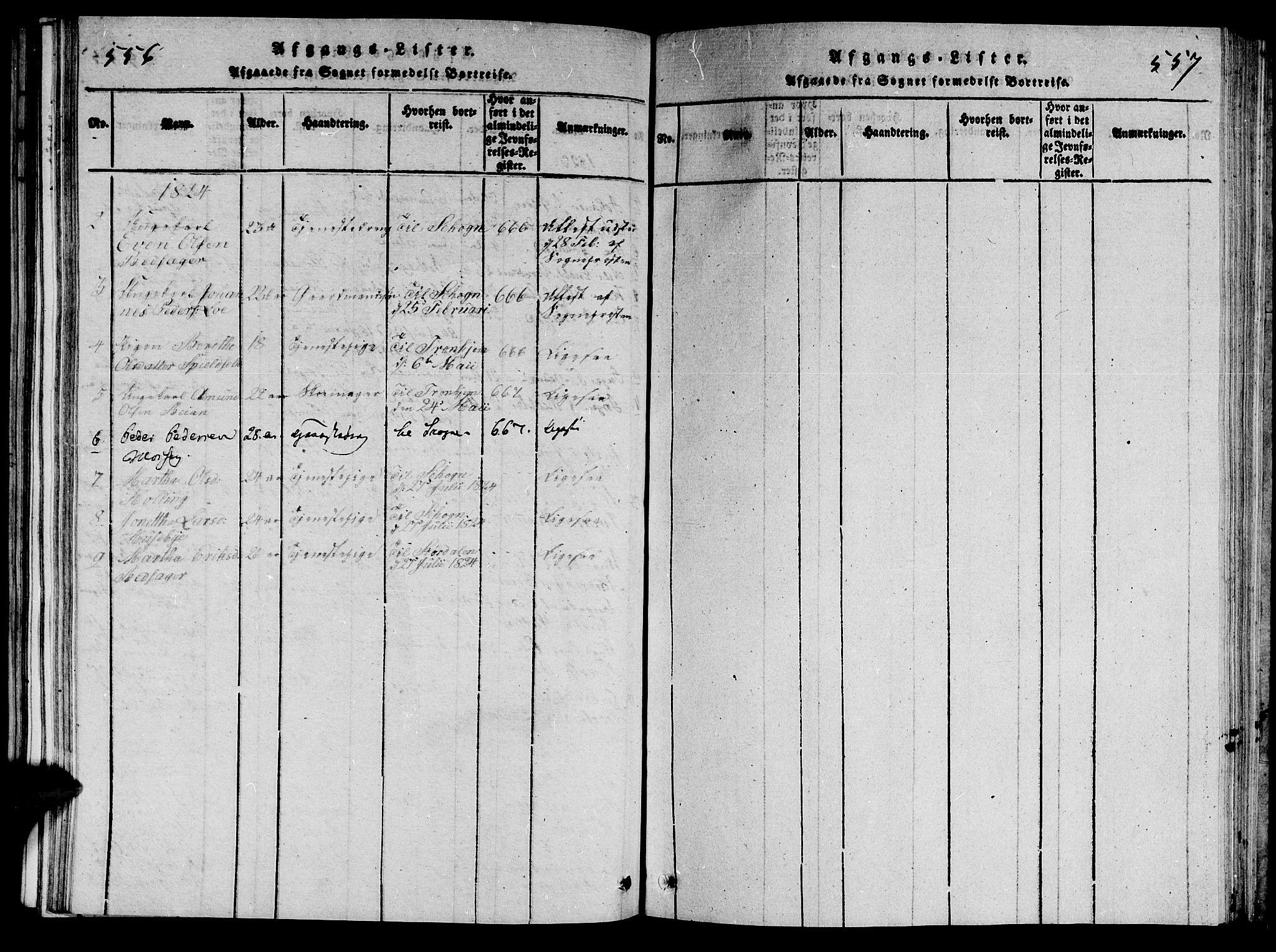 SAT, Ministerialprotokoller, klokkerbøker og fødselsregistre - Nord-Trøndelag, 714/L0132: Klokkerbok nr. 714C01, 1817-1824, s. 556-557