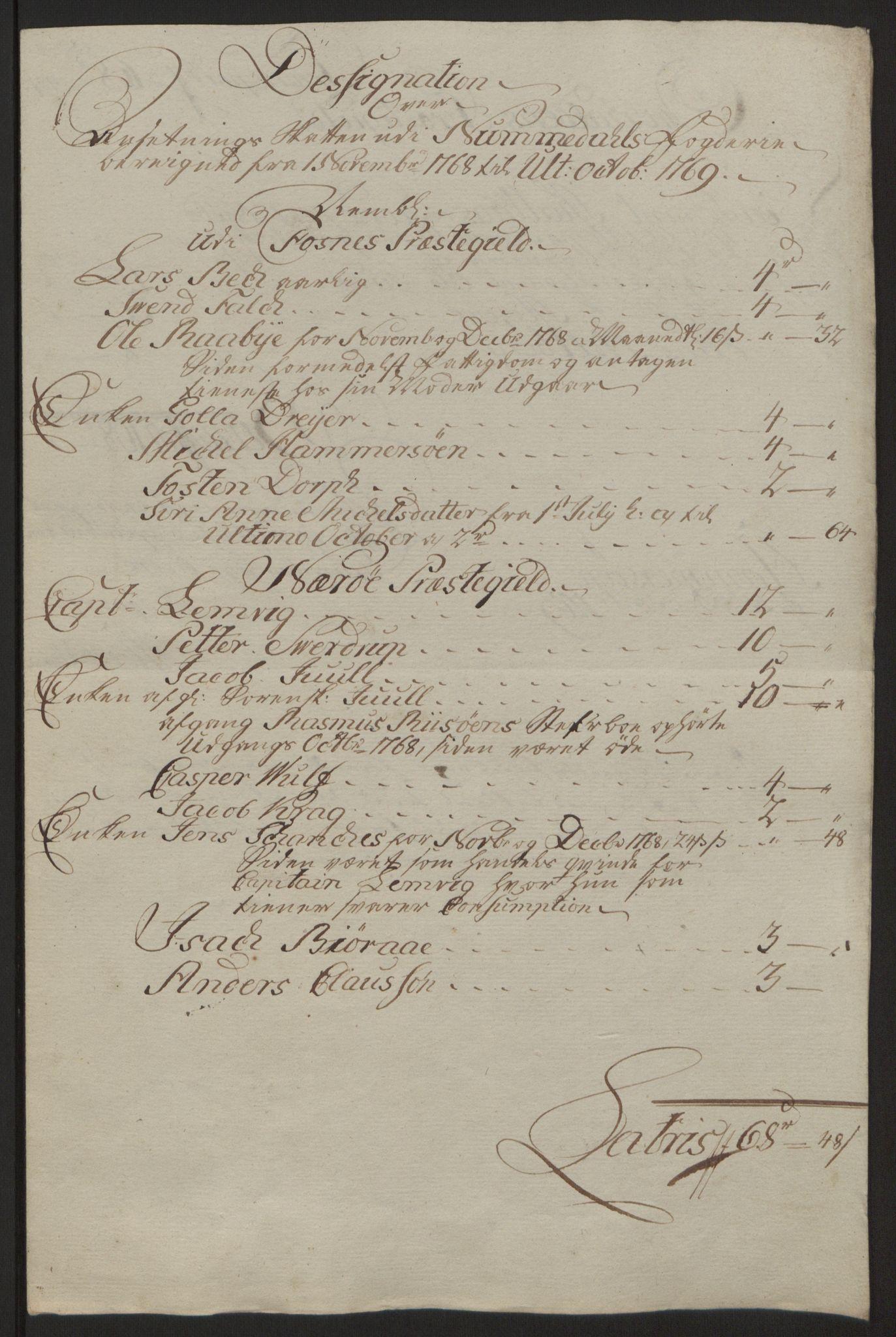 RA, Rentekammeret inntil 1814, Reviderte regnskaper, Fogderegnskap, R64/L4502: Ekstraskatten Namdal, 1762-1772, s. 326