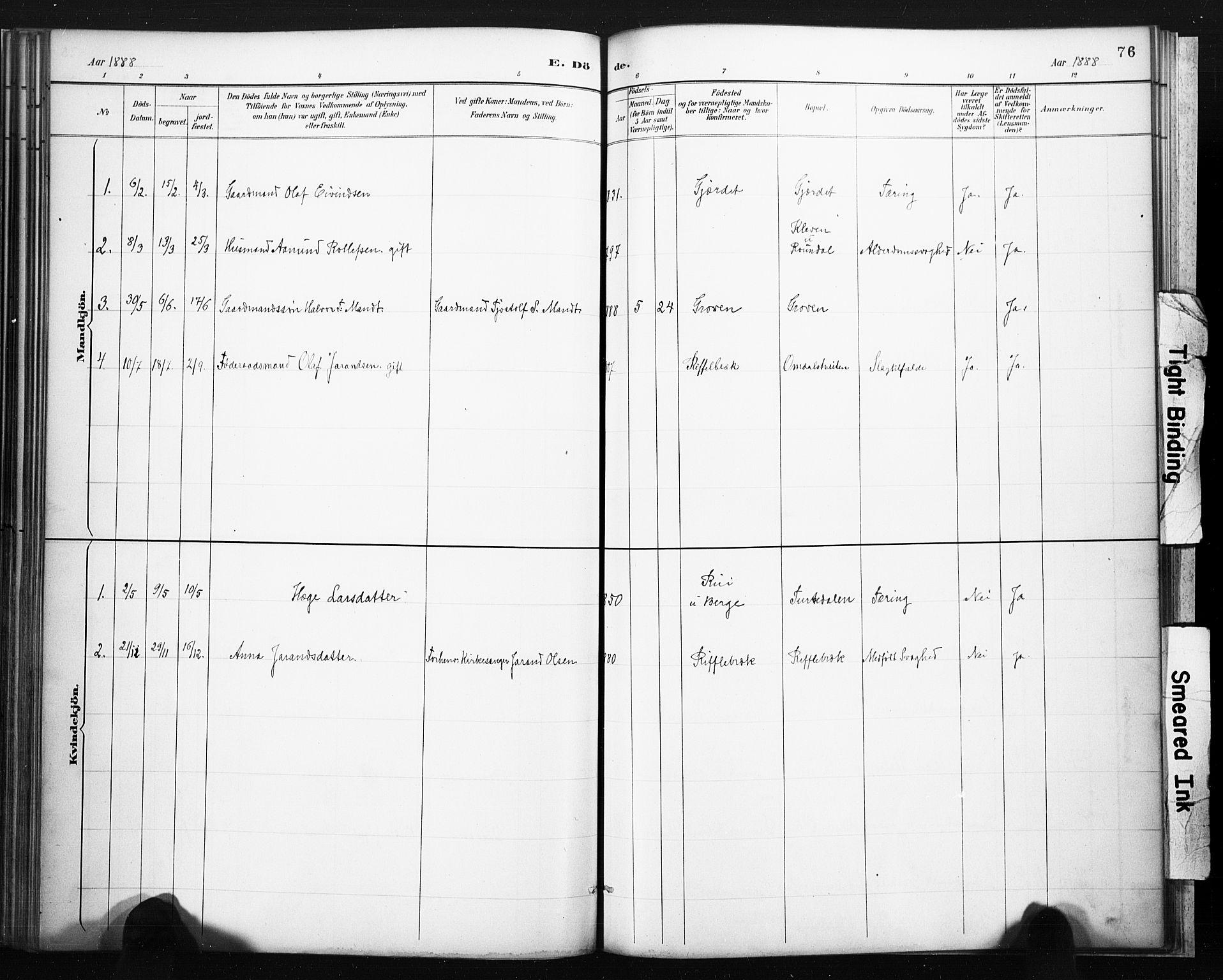 SAKO, Lårdal kirkebøker, F/Fb/L0002: Ministerialbok nr. II 2, 1887-1918, s. 76
