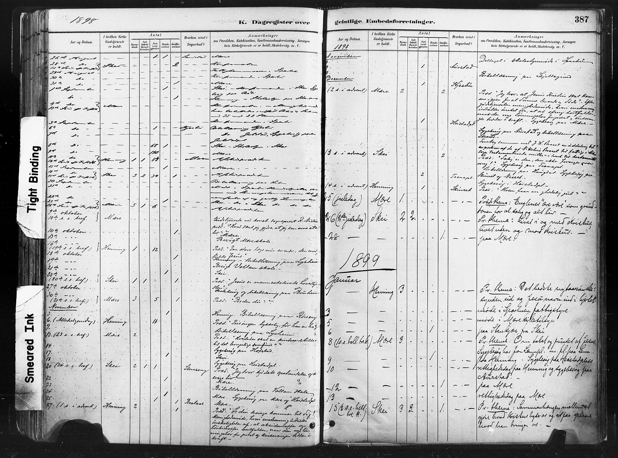 SAT, Ministerialprotokoller, klokkerbøker og fødselsregistre - Nord-Trøndelag, 735/L0351: Ministerialbok nr. 735A10, 1884-1908, s. 387