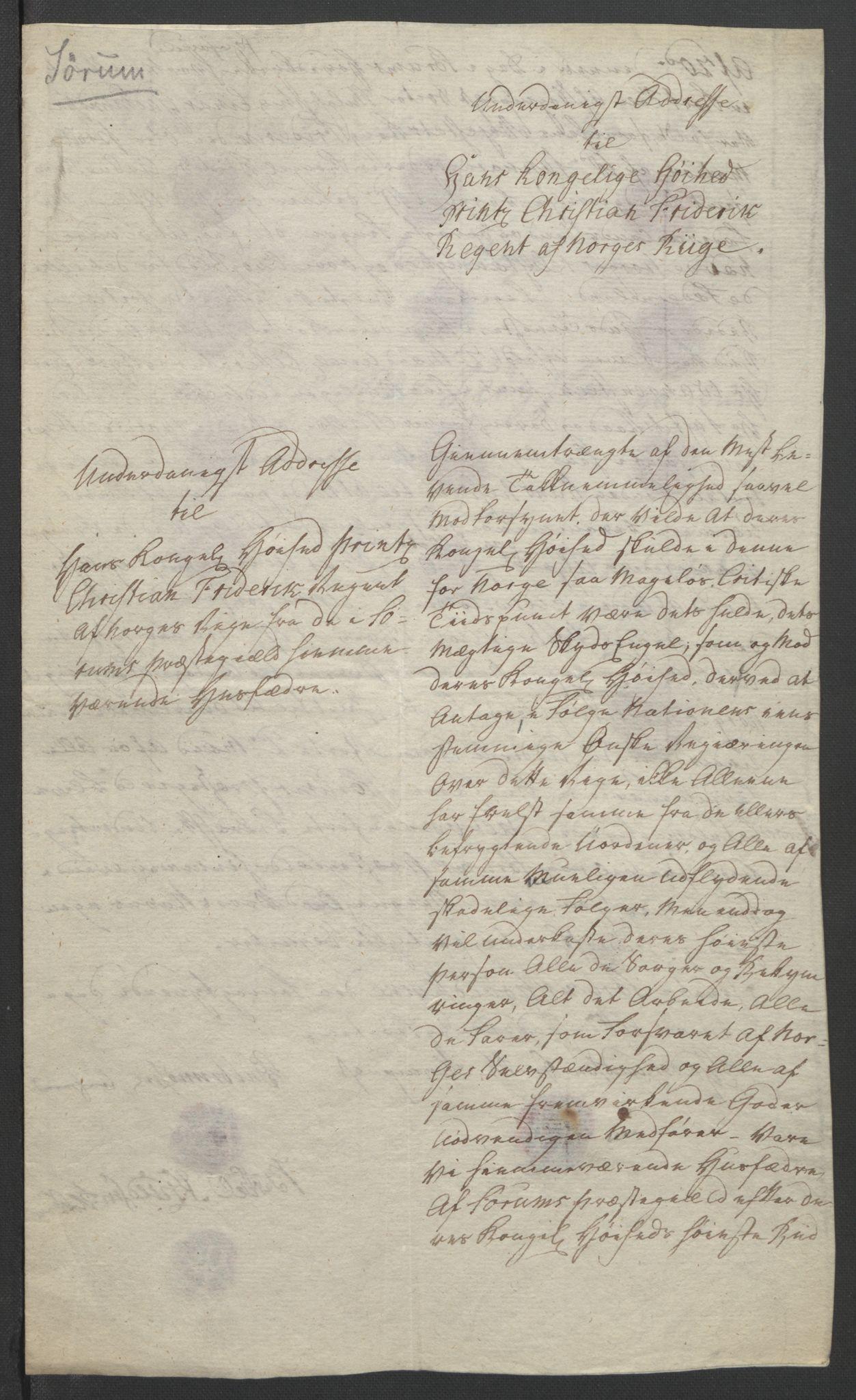 RA, Statsrådssekretariatet, D/Db/L0007: Fullmakter for Eidsvollsrepresentantene i 1814. , 1814, s. 204