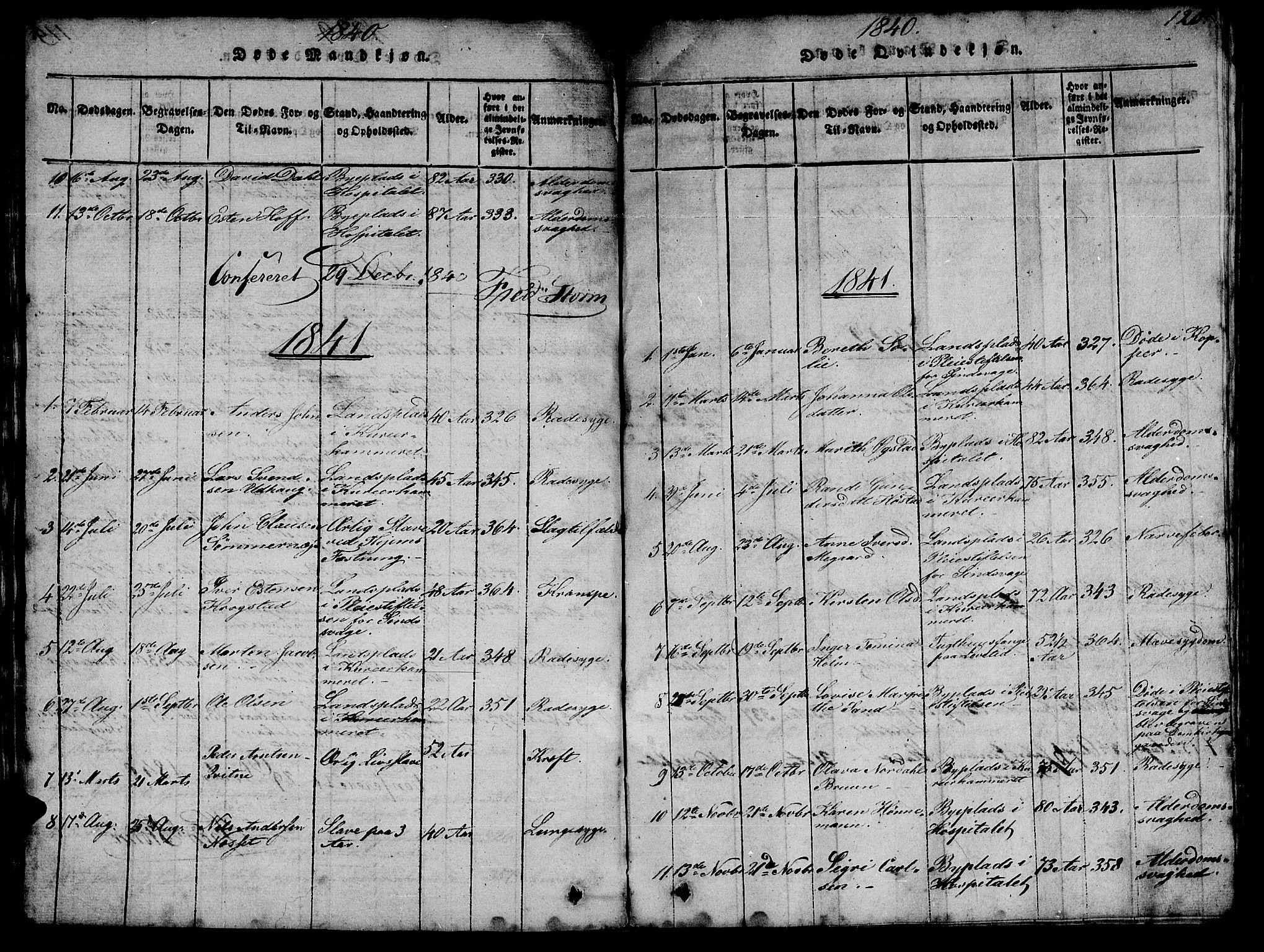 SAT, Ministerialprotokoller, klokkerbøker og fødselsregistre - Sør-Trøndelag, 623/L0478: Klokkerbok nr. 623C01, 1815-1873, s. 120