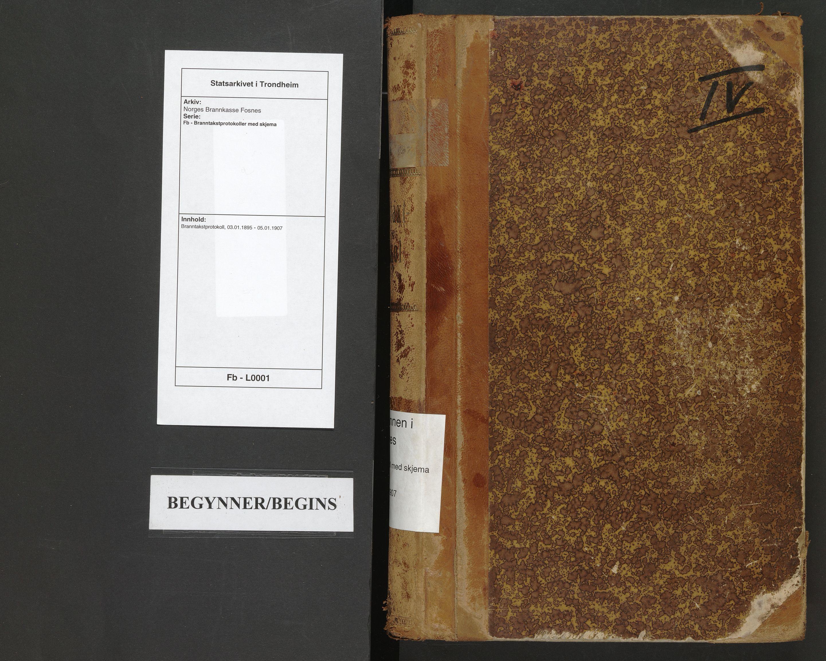 SAT, Norges Brannkasse Fosnes, Fb/L0001: Branntakstprotokoll, 1895-1907