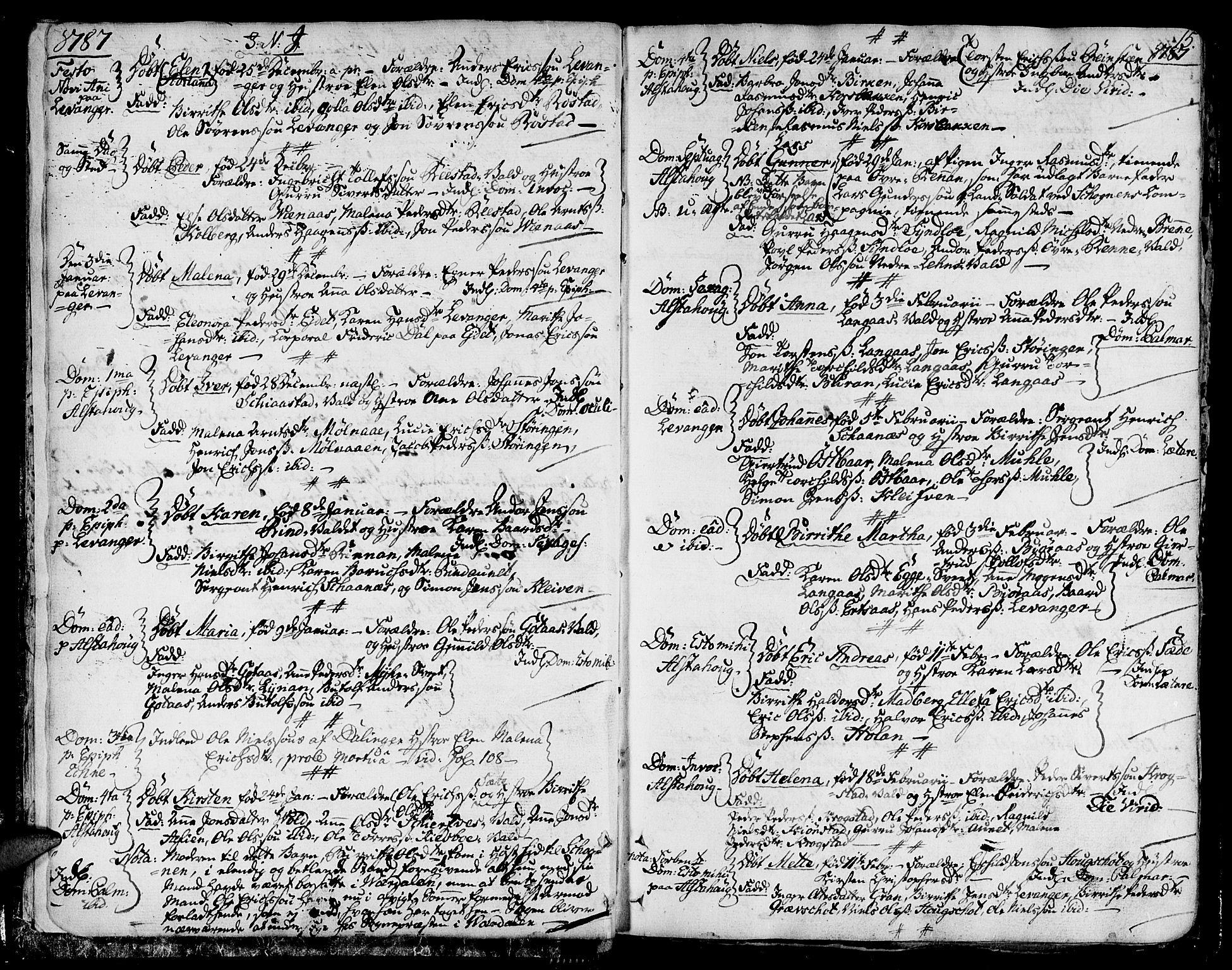 SAT, Ministerialprotokoller, klokkerbøker og fødselsregistre - Nord-Trøndelag, 717/L0142: Ministerialbok nr. 717A02 /1, 1783-1809, s. 15