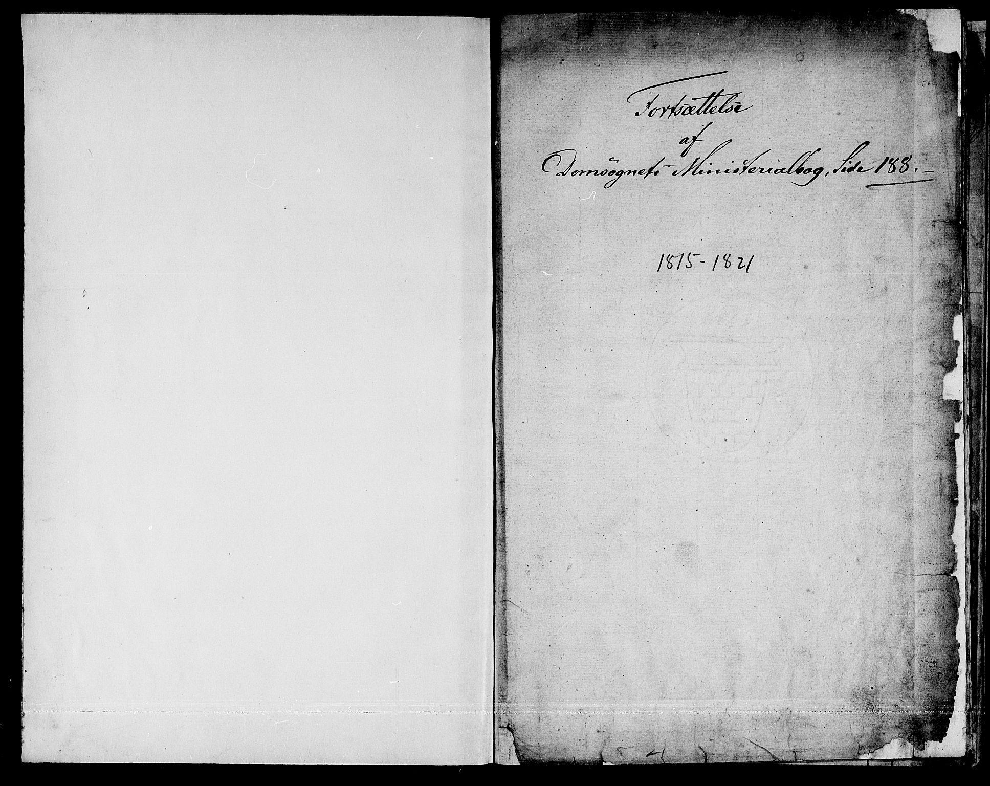 SAT, Ministerialprotokoller, klokkerbøker og fødselsregistre - Sør-Trøndelag, 601/L0044: Ministerialbok nr. 601A12, 1820-1821, s. 1