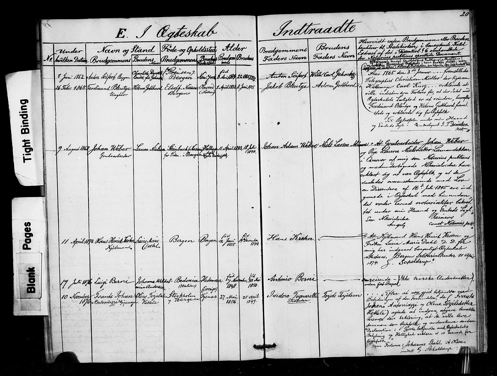 SAB, Arkivreferanse mangler*, Dissenterprotokoll nr. -, 1858-1878, s. 20
