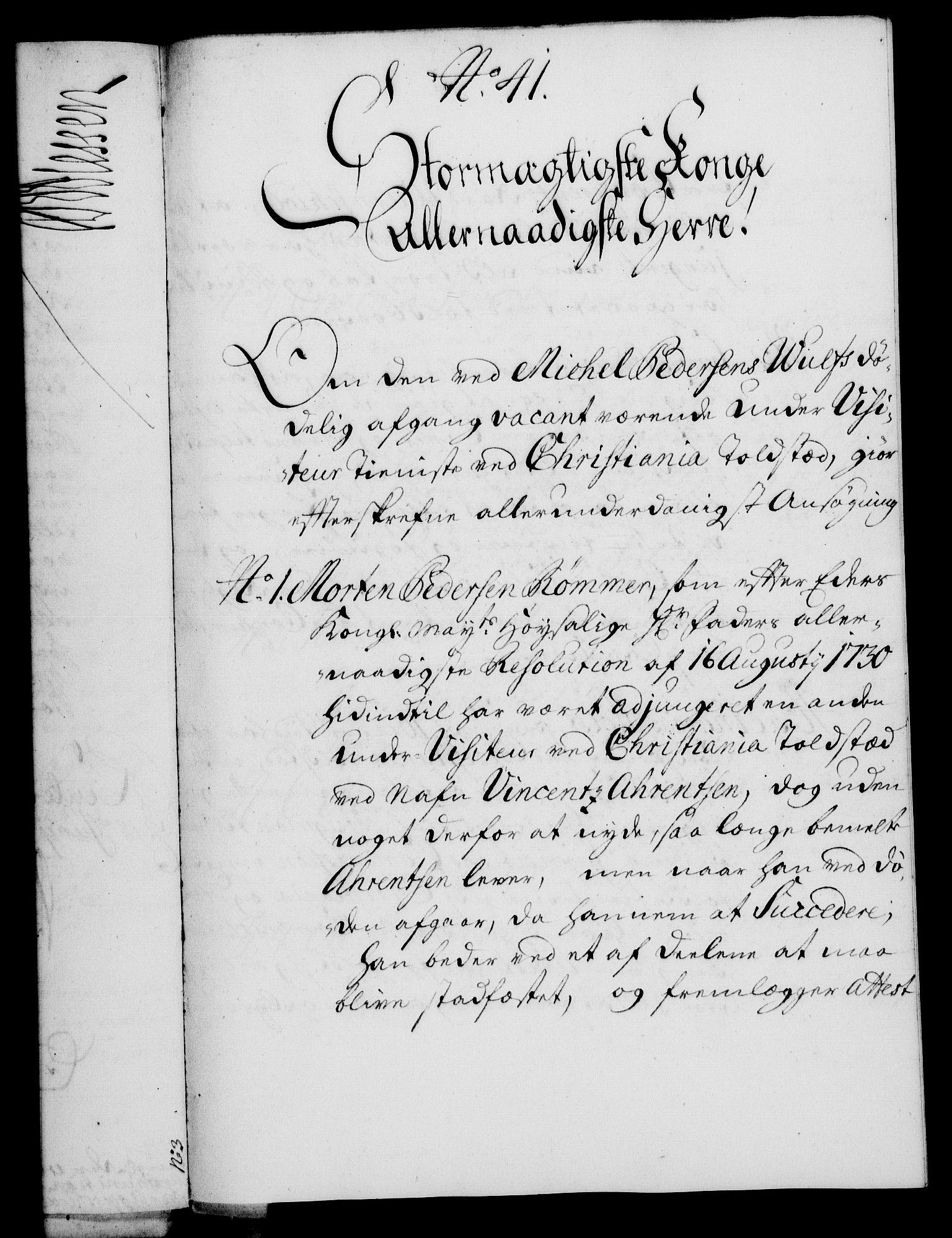RA, Rentekammeret, Kammerkanselliet, G/Gf/Gfa/L0015: Norsk relasjons- og resolusjonsprotokoll (merket RK 52.15), 1732, s. 260