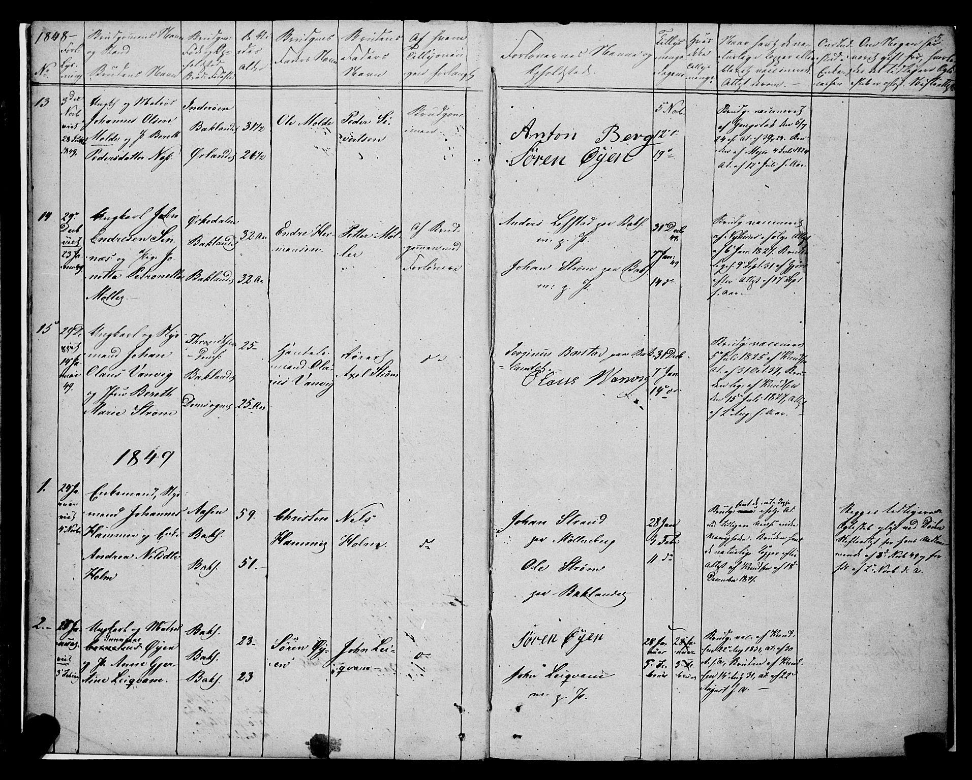 SAT, Ministerialprotokoller, klokkerbøker og fødselsregistre - Sør-Trøndelag, 604/L0187: Ministerialbok nr. 604A08, 1847-1878, s. 5