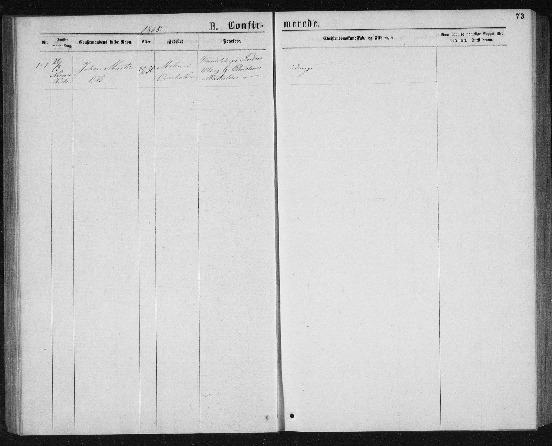 SAT, Ministerialprotokoller, klokkerbøker og fødselsregistre - Nord-Trøndelag, 768/L0567: Ministerialbok nr. 768A02, 1837-1865, s. 73