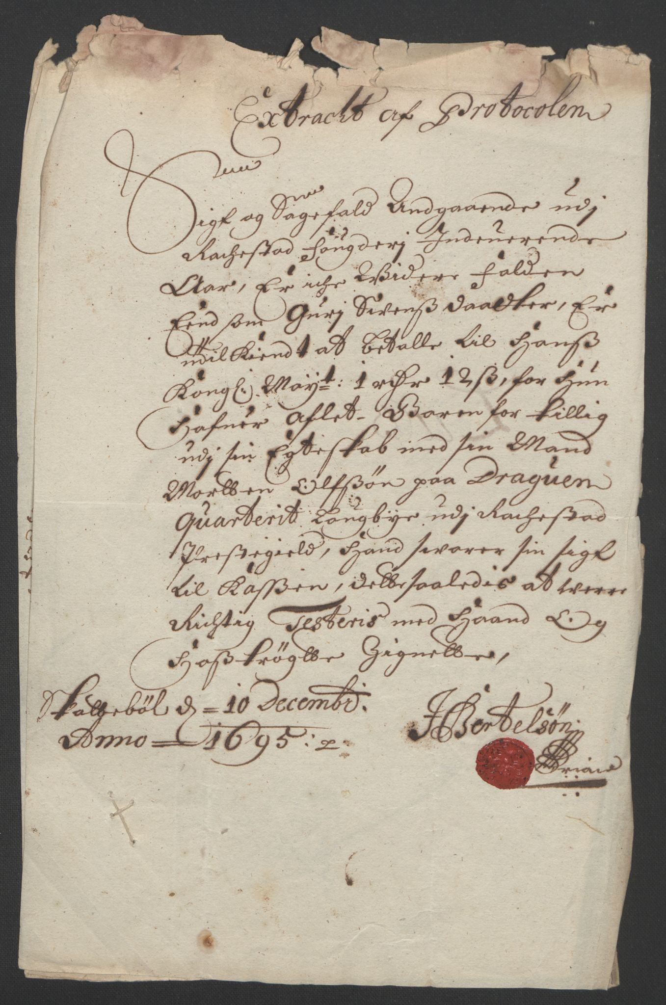RA, Rentekammeret inntil 1814, Reviderte regnskaper, Fogderegnskap, R07/L0285: Fogderegnskap Rakkestad, Heggen og Frøland, 1695, s. 23