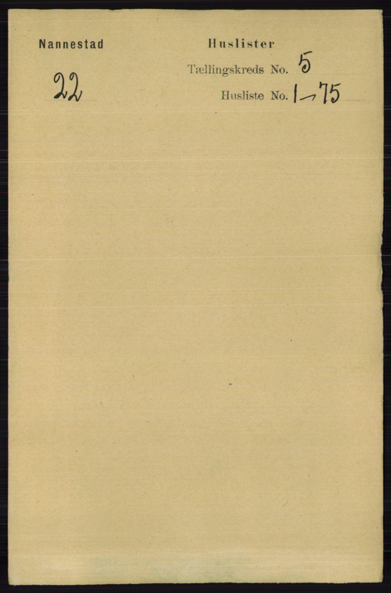 RA, Folketelling 1891 for 0238 Nannestad herred, 1891, s. 2521